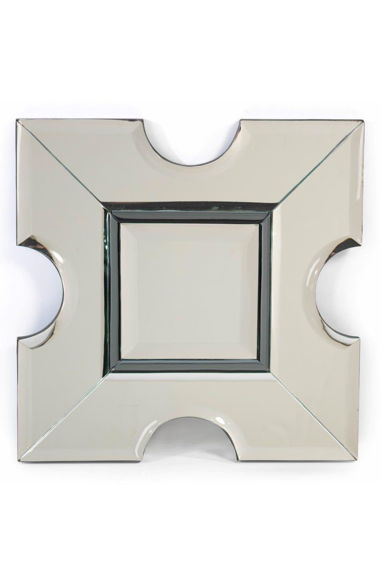 Square Wall Mirror,                         Main,                         color, Grey/ Silver