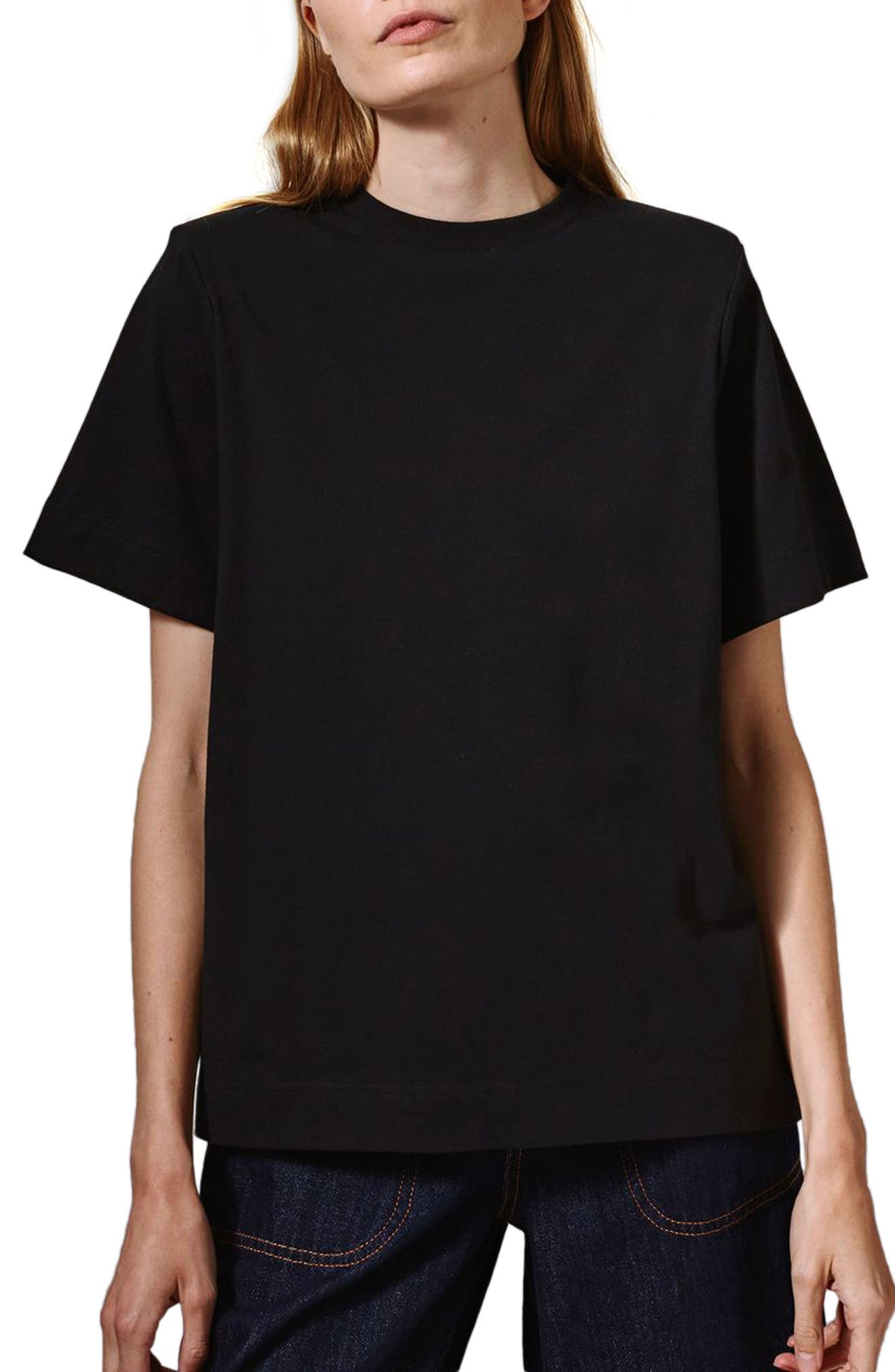 Topshop Boutique Power Shoulder Tee