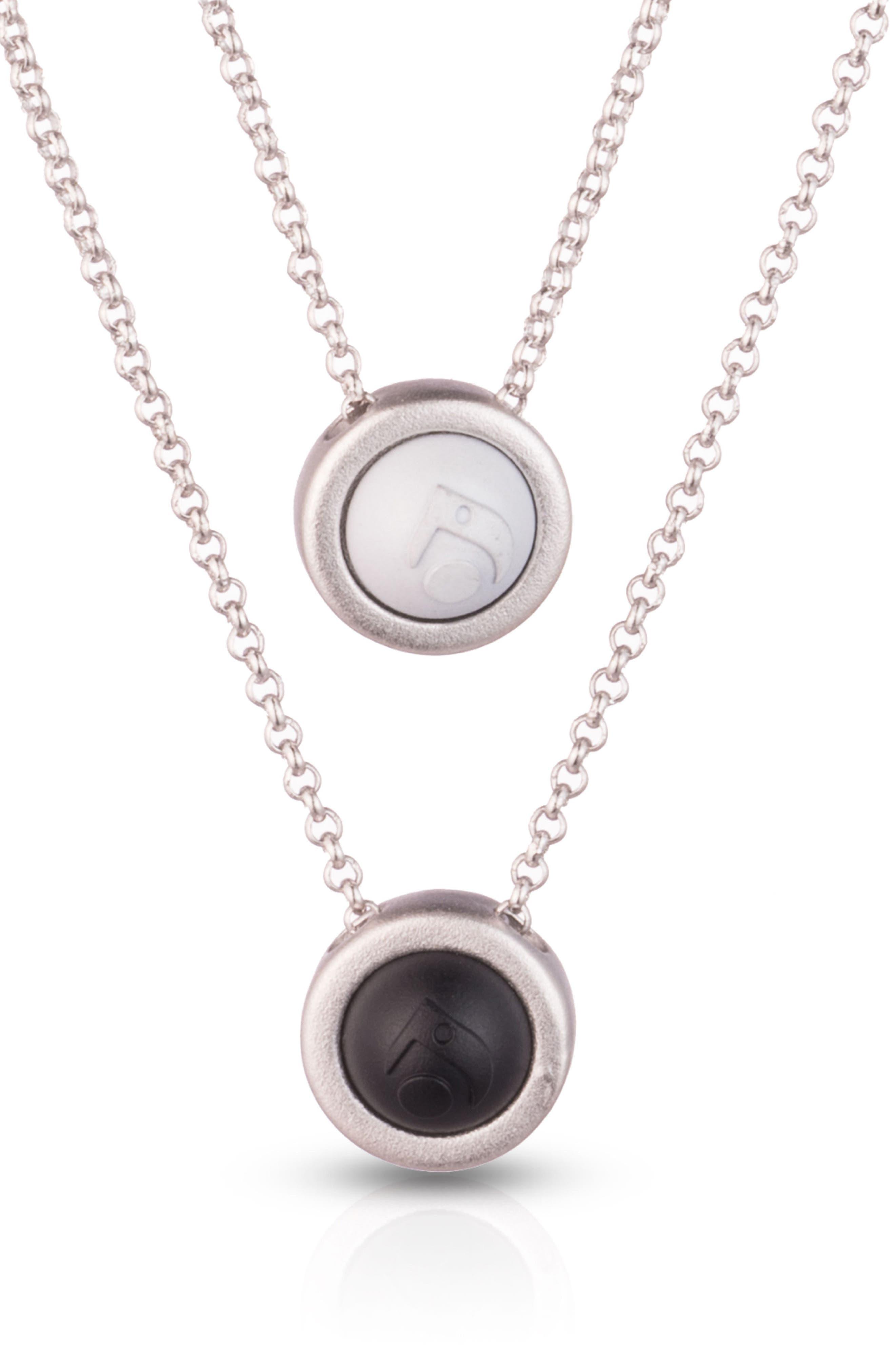 Double Fine Chain Pendant Necklace,                             Alternate thumbnail 2, color,                             Silver