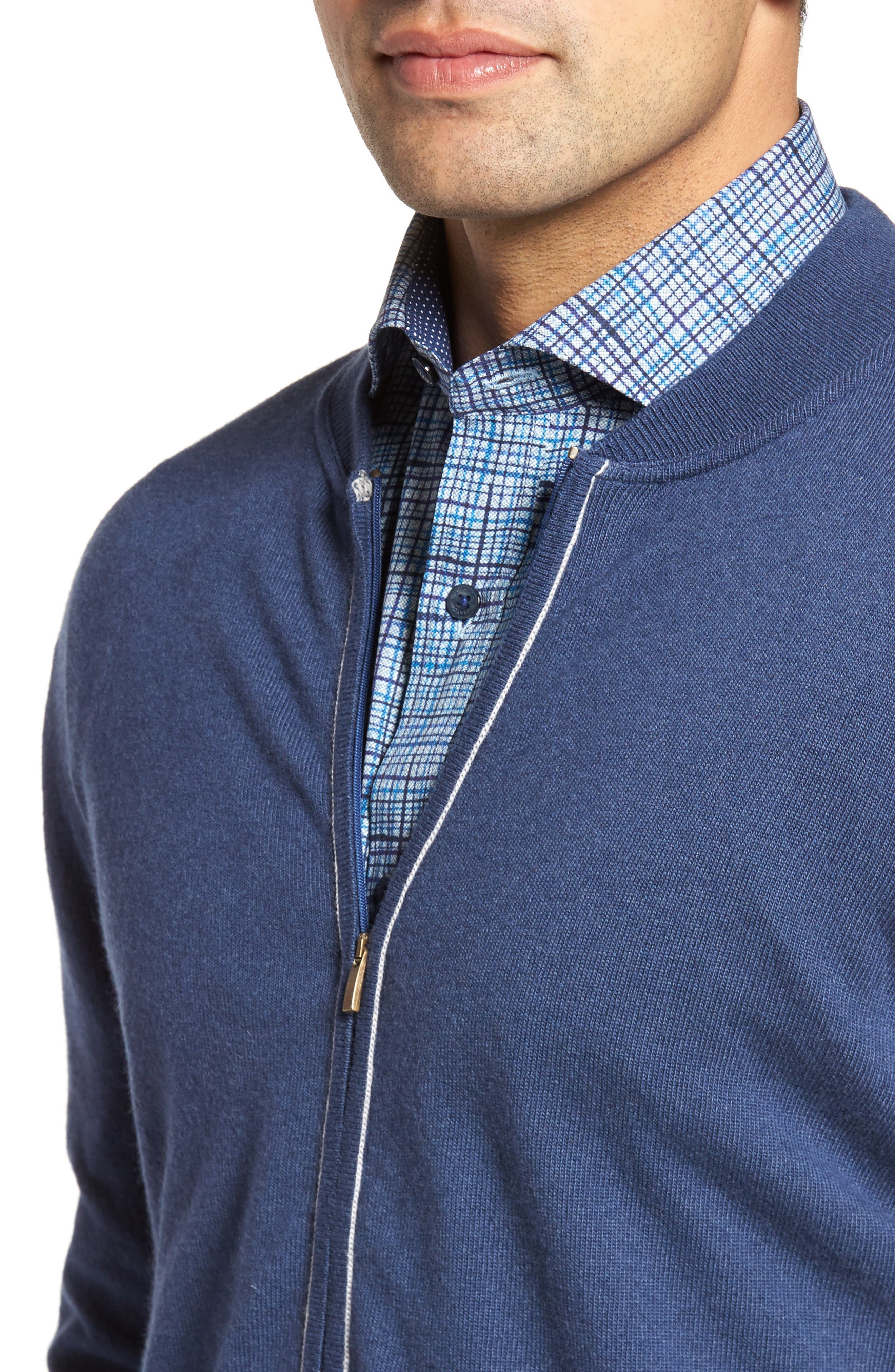 Zip Sweater,                             Alternate thumbnail 4, color,                             Classic Blue