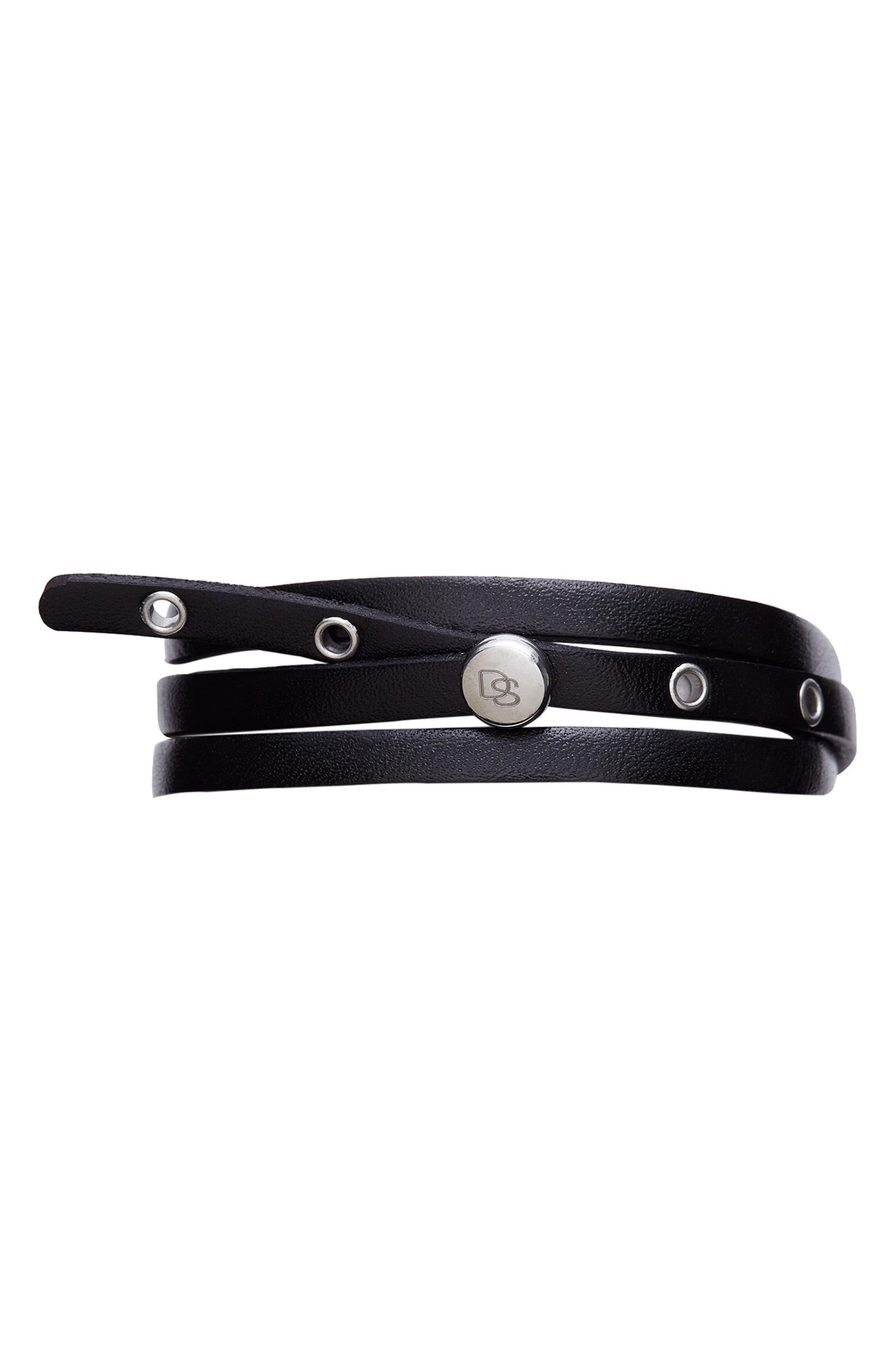 Alternate Image 1 Selected - Degs & Sal Leather Wrap Bracelet