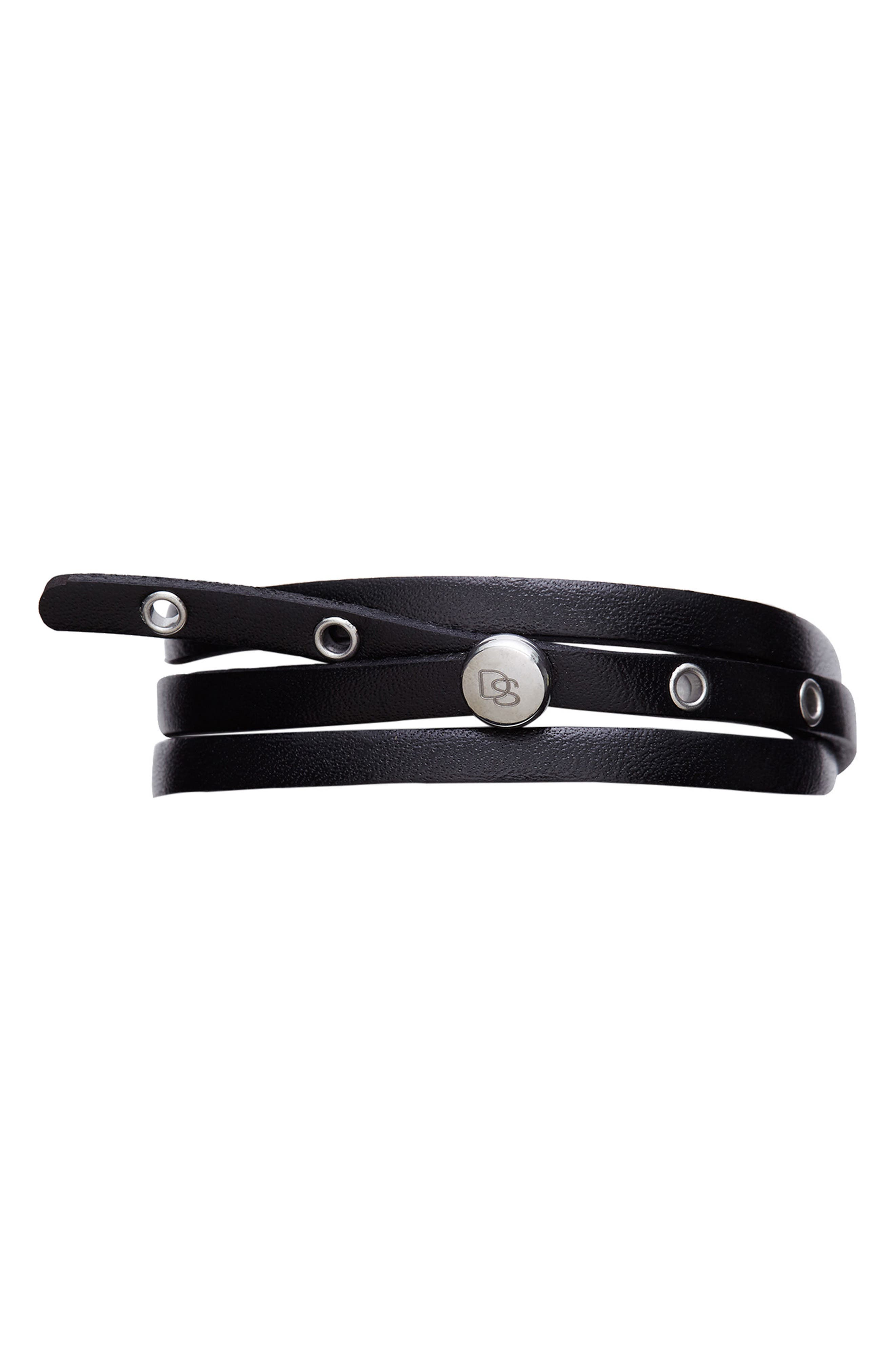 Main Image - Degs & Sal Leather Wrap Bracelet
