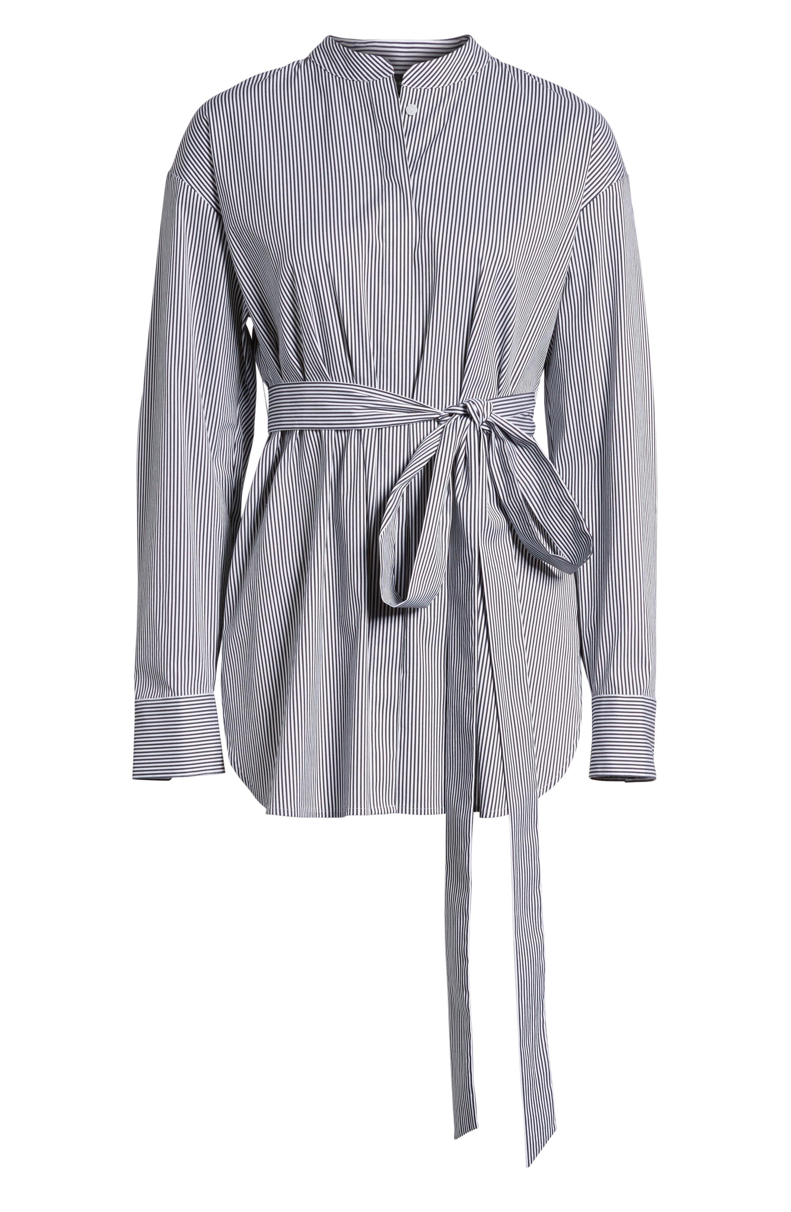 Alternate Image 6  - Halogen® Belted Poplin Shirt (Regular & Petite)