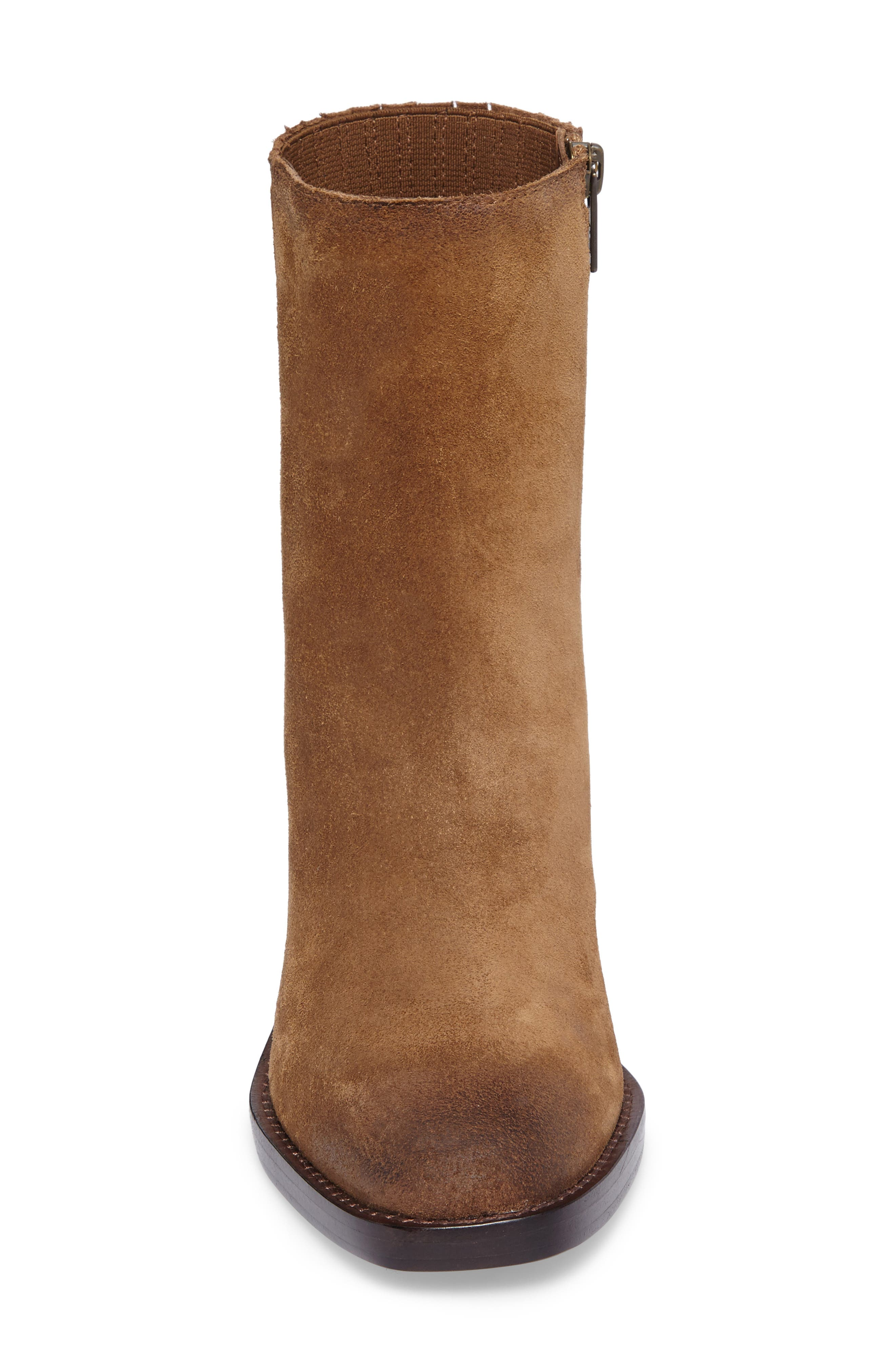 Pia Boot,                             Alternate thumbnail 4, color,                             Chestnut Suede