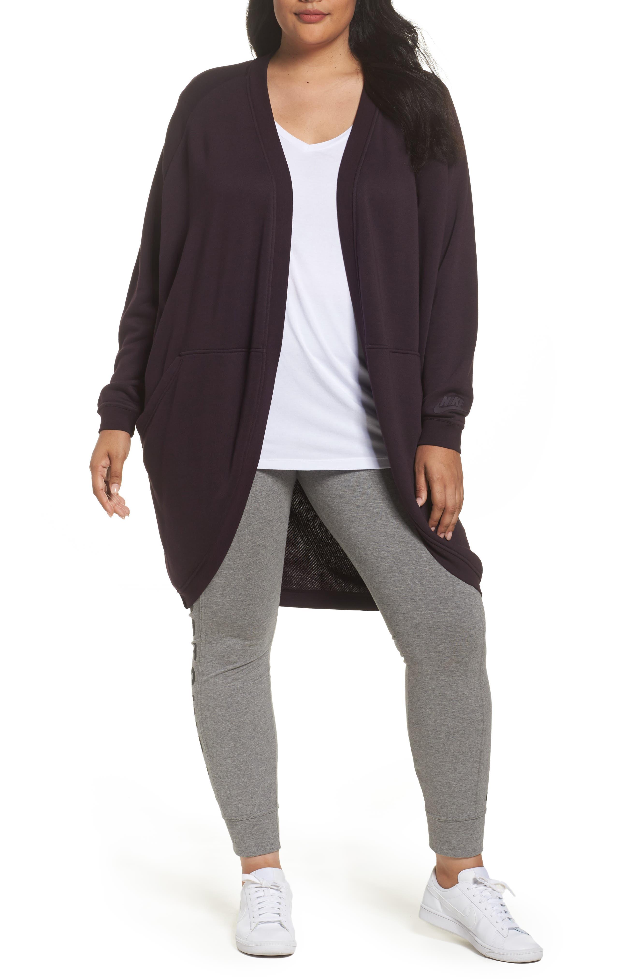 Sportswear Modern Cardigan,                         Main,                         color, Port Wine/ Port Wine