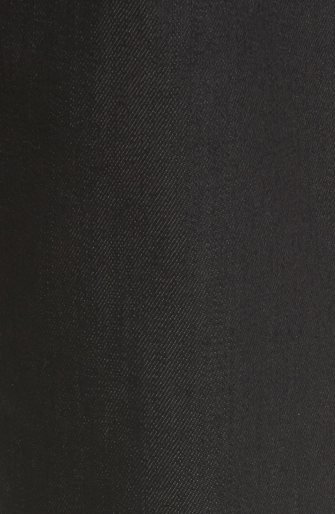 Alternate Image 5  - 7 For All Mankind® Airweft - Slimmy Slim Fit Jeans (Soiree Black)