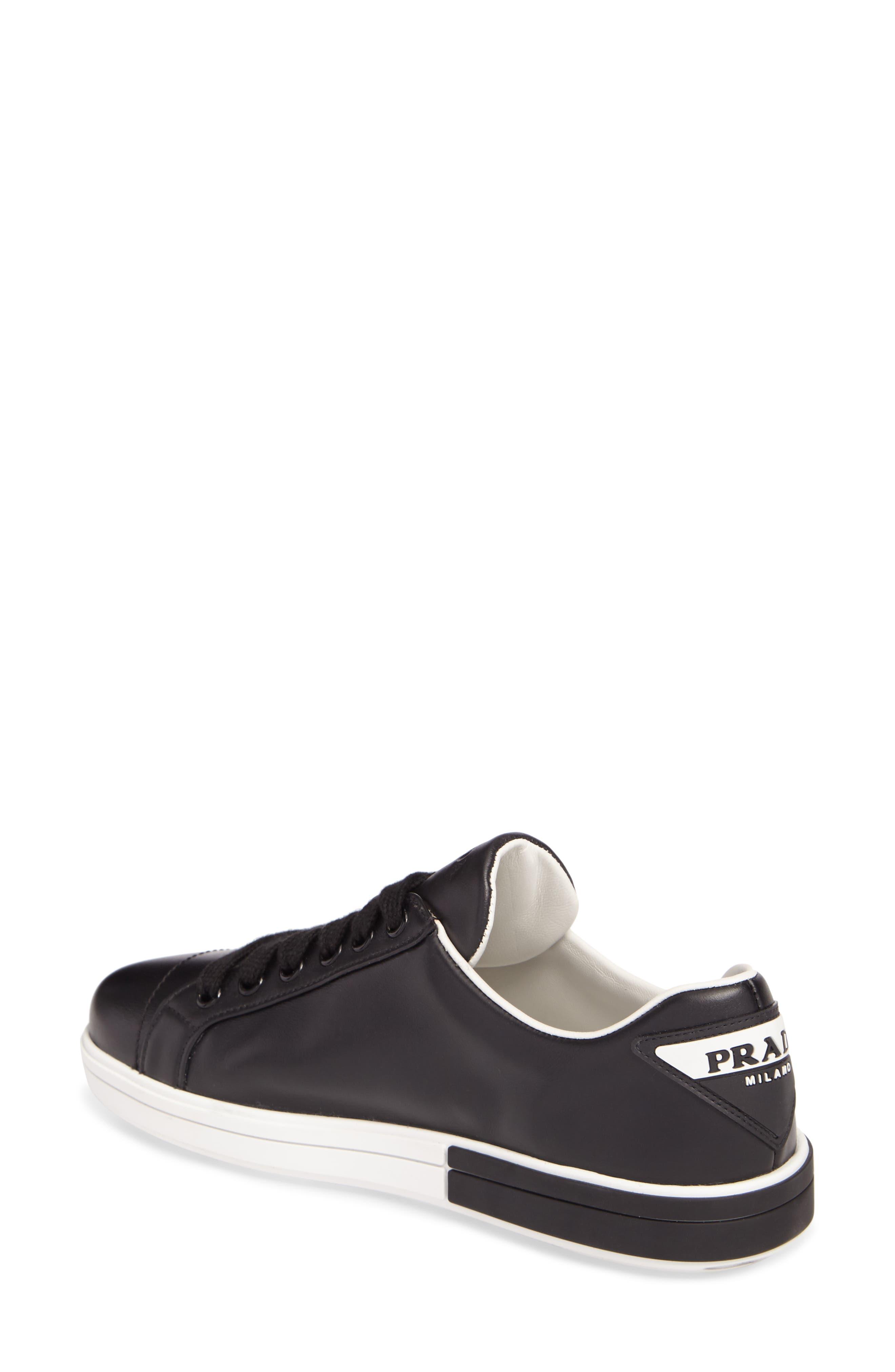 Logo Low Top Sneaker,                             Alternate thumbnail 2, color,                             Black/ White
