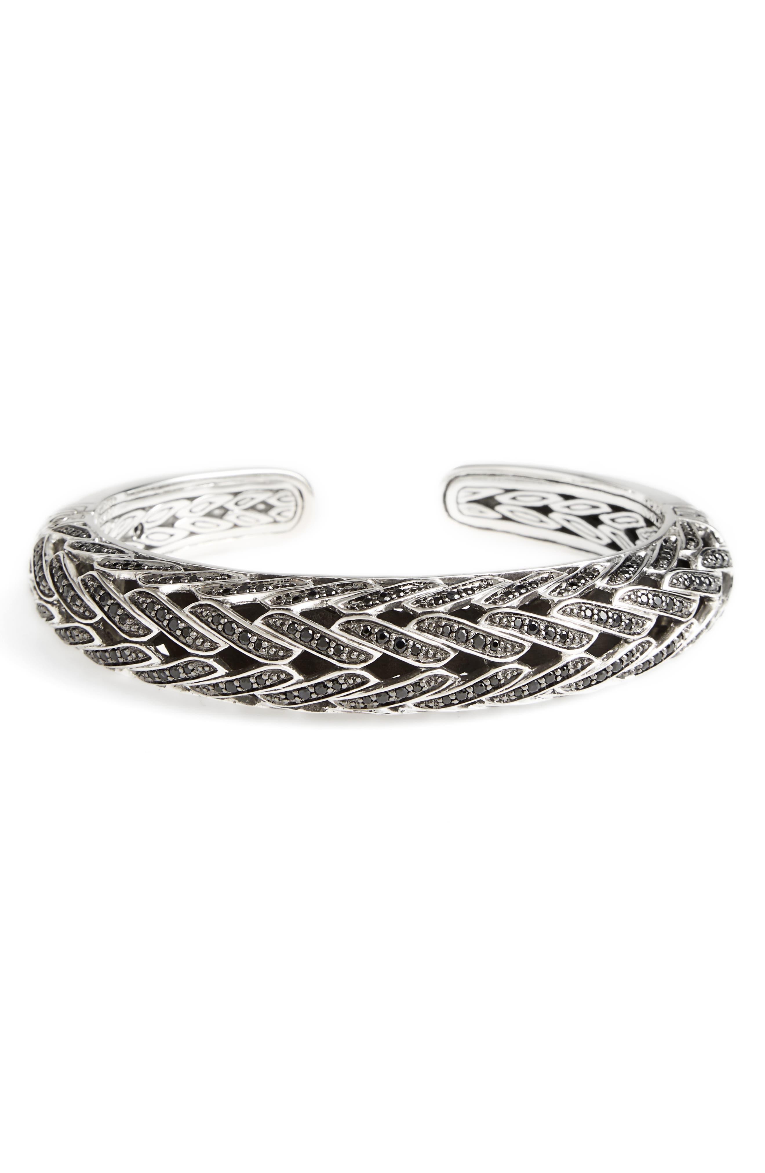 Classic Chain Spinel Bracelet,                         Main,                         color, Silver/ Black Sapphire