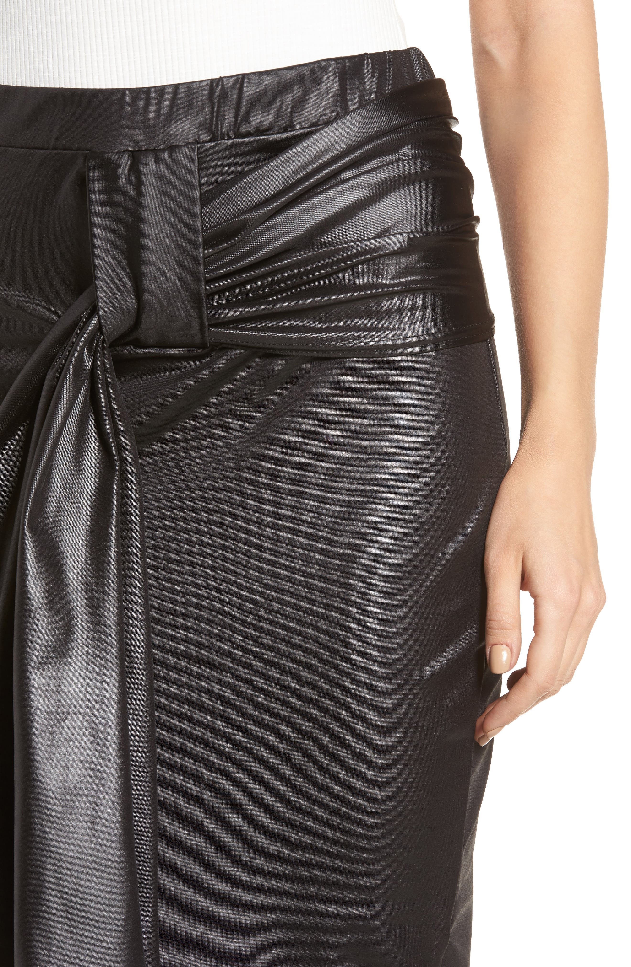 Alternate Image 5  - LOST INK Coated Cocktail Skirt
