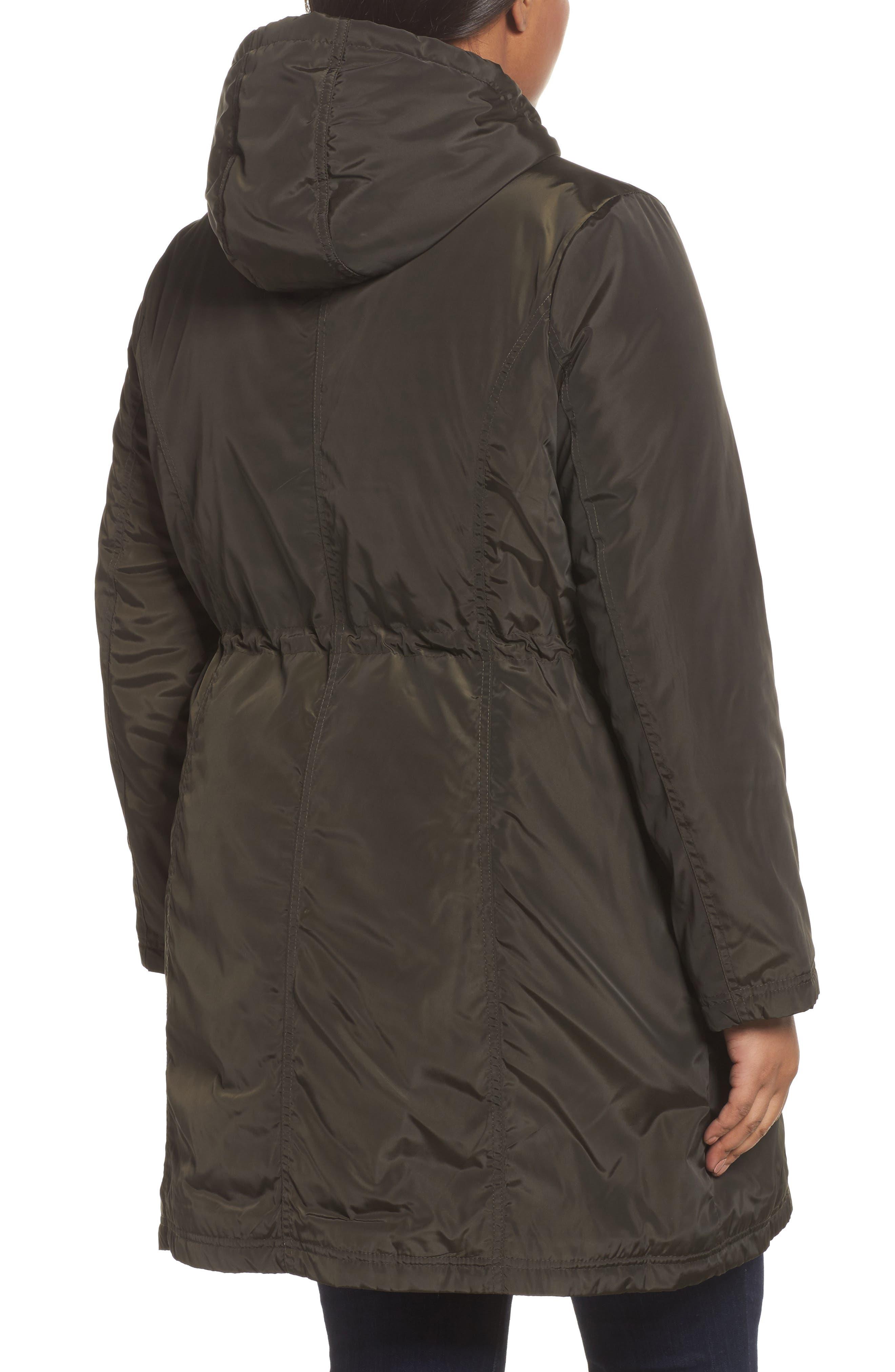 Tiffany Raincoat,                             Alternate thumbnail 2, color,                             Olive