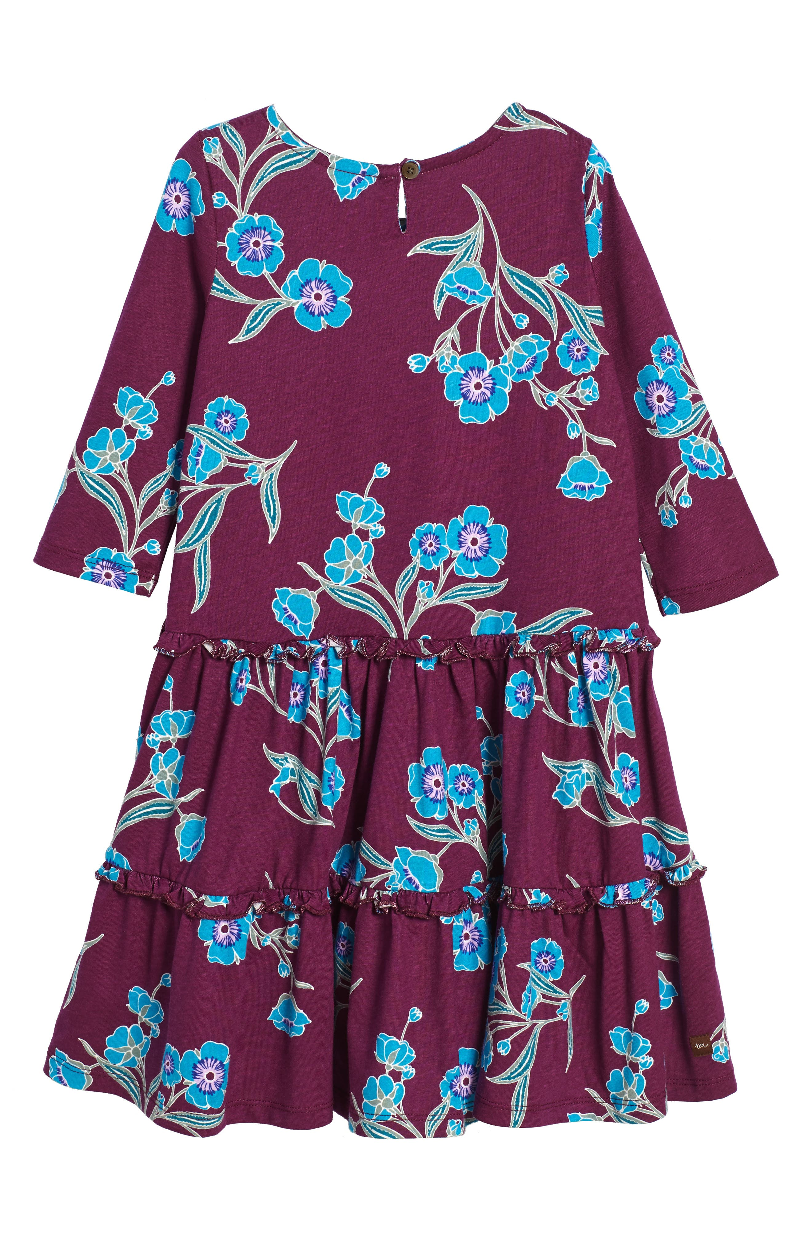 Marjorie Tiered Dress,                             Alternate thumbnail 2, color,                             Cosmic Berry