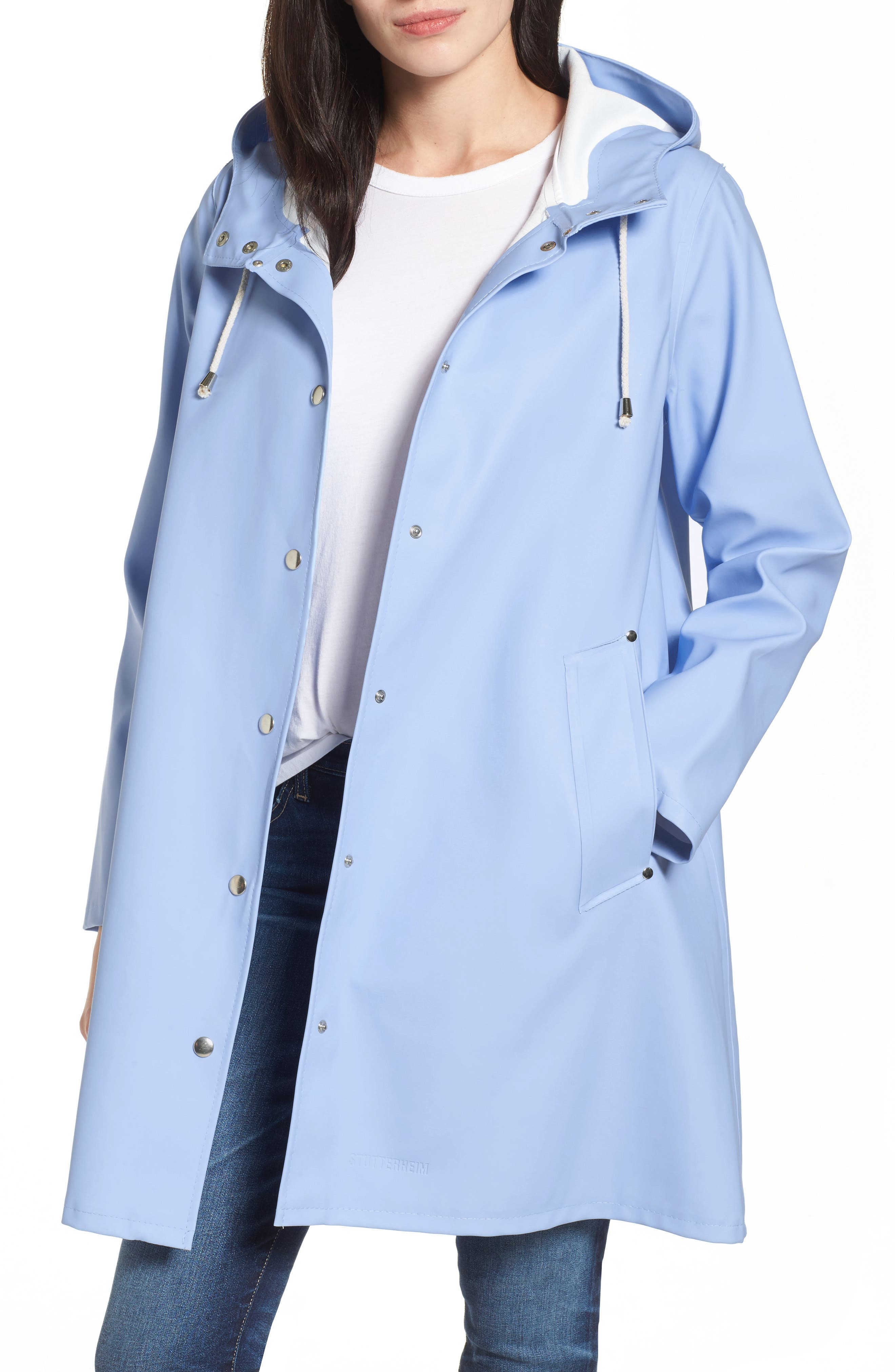 Alternate Image 1 Selected - Stutterheim Mosebacke Waterproof A-Line Hooded Raincoat