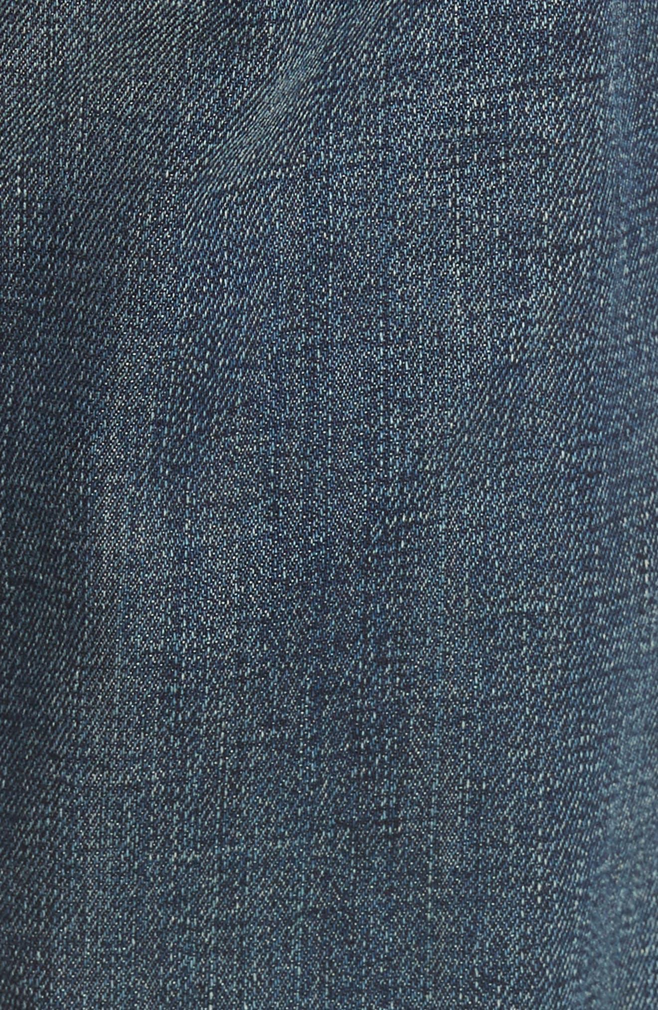Fideltiy Denim Torino Slim Fit Jeans,                             Alternate thumbnail 5, color,                             Crystal Blue