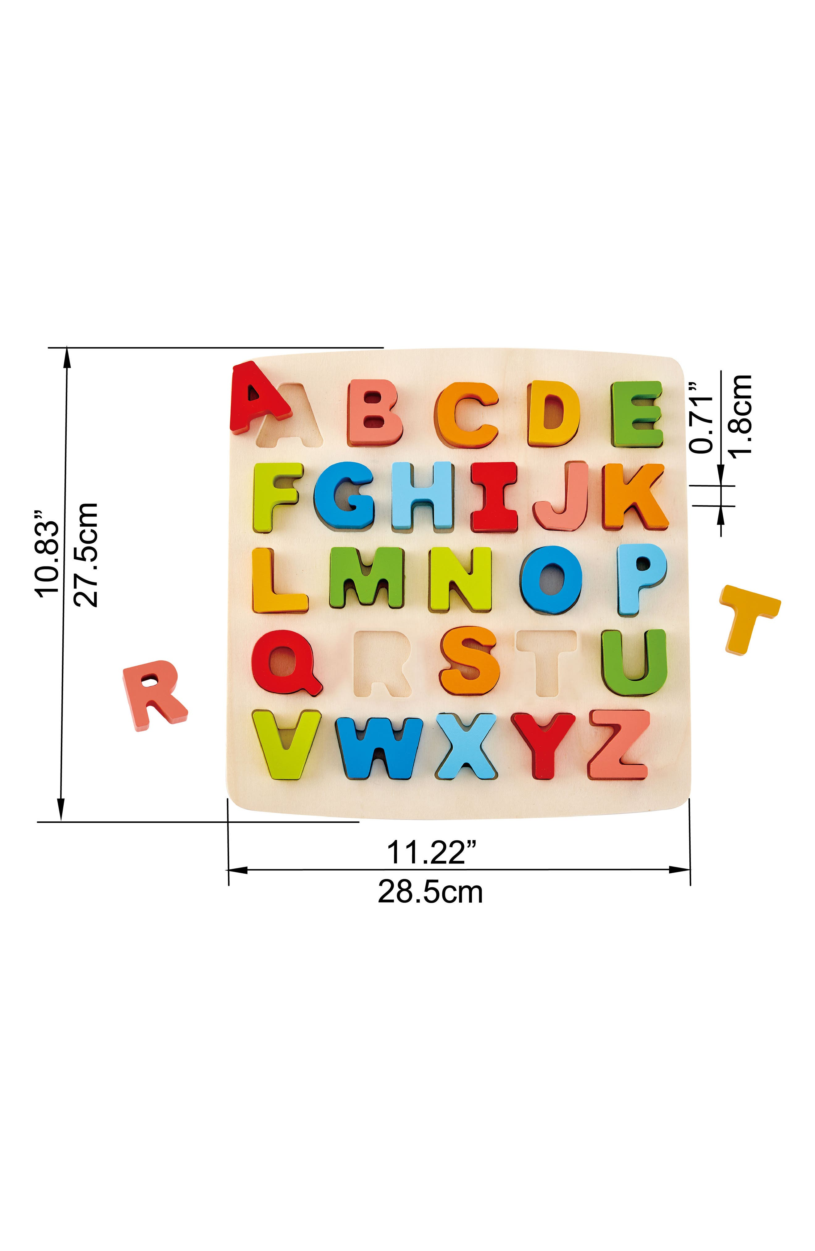 27-Piece Chunky Capital Letters Puzzle,                             Alternate thumbnail 2, color,                             Orange