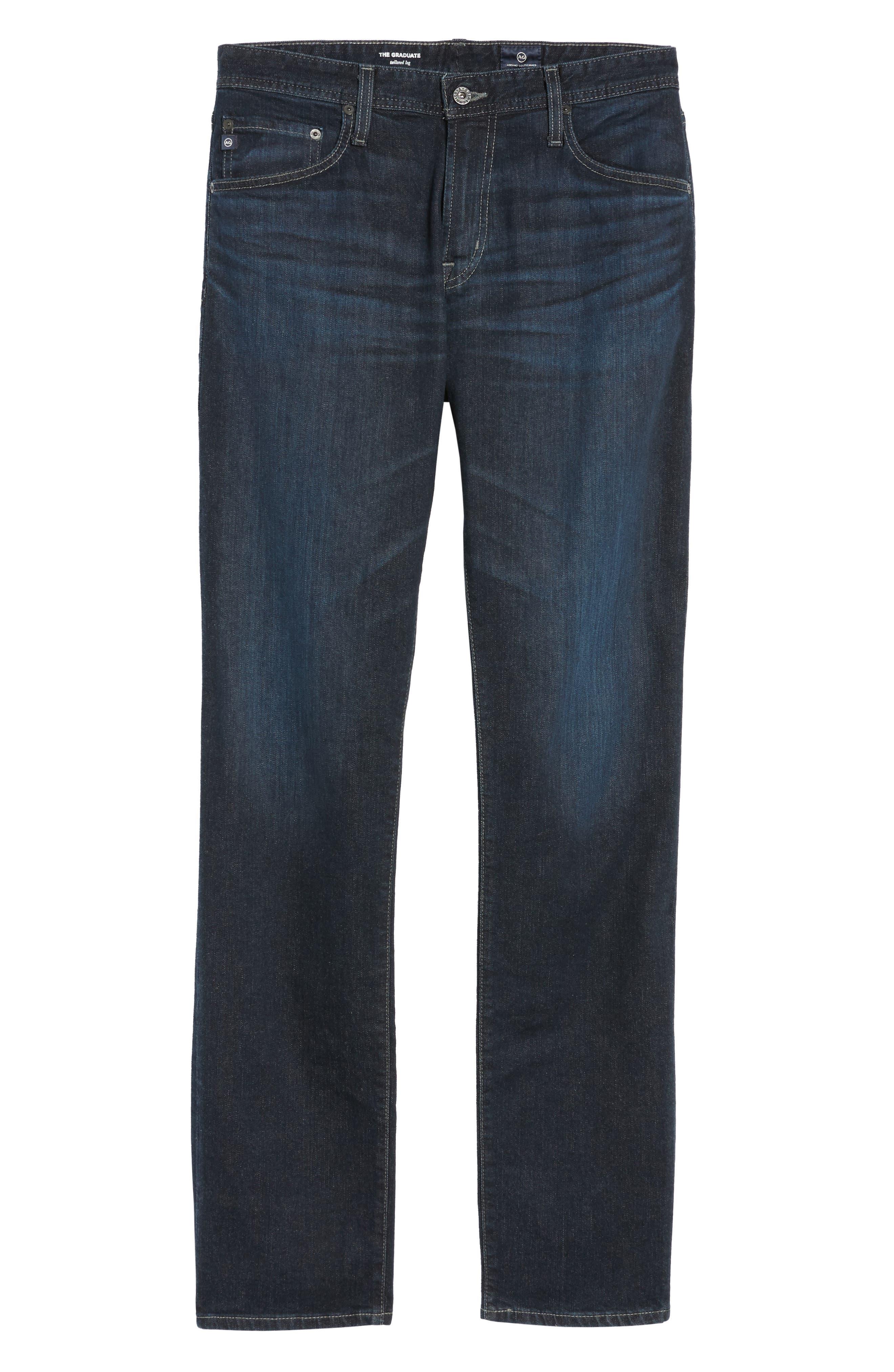 Graduate Slim Straight Leg Jeans,                             Alternate thumbnail 7, color,                             Rockwell
