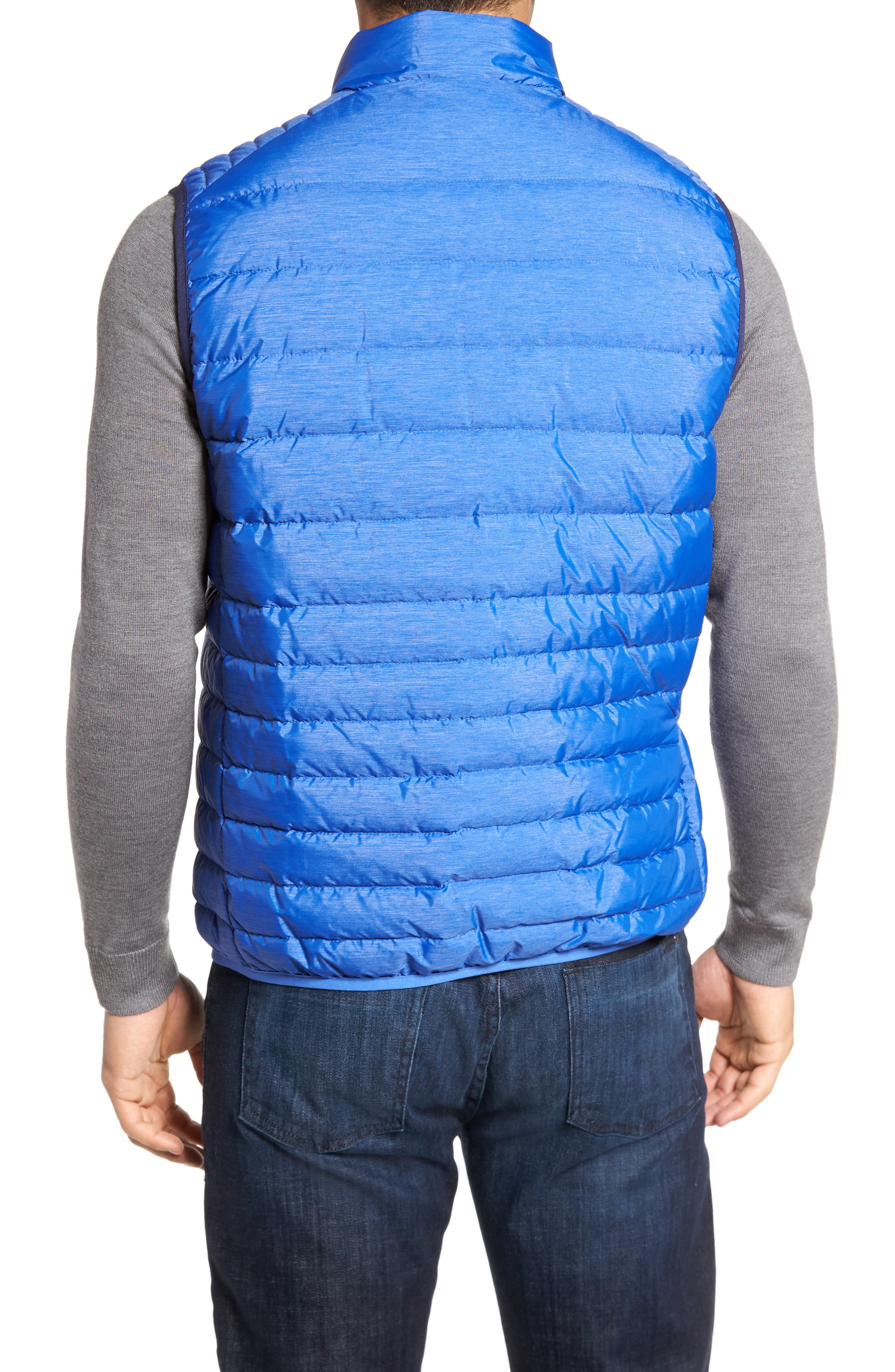 Crown Elite Light Down Vest,                             Alternate thumbnail 2, color,                             Barrier Blue