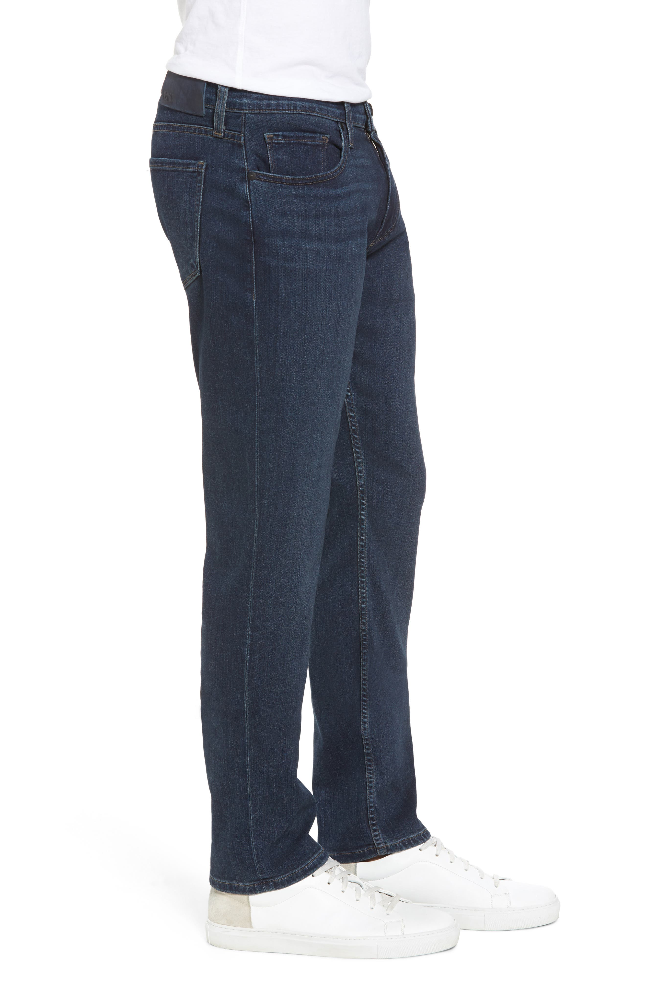 Transcend - Federal Slim Straight Fit Jeans,                             Alternate thumbnail 3, color,                             Benji