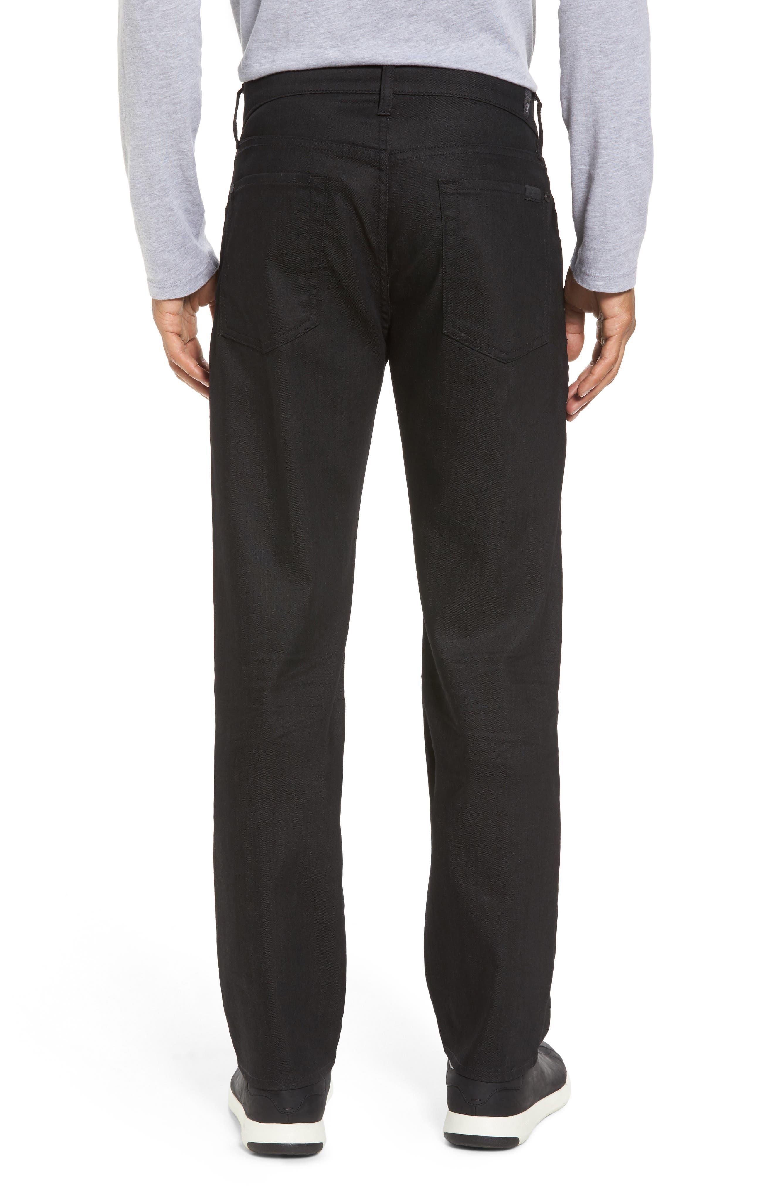 Alternate Image 2  - 7 For All Mankind® Airweft - Slimmy Slim Fit Jeans (Soiree Black)