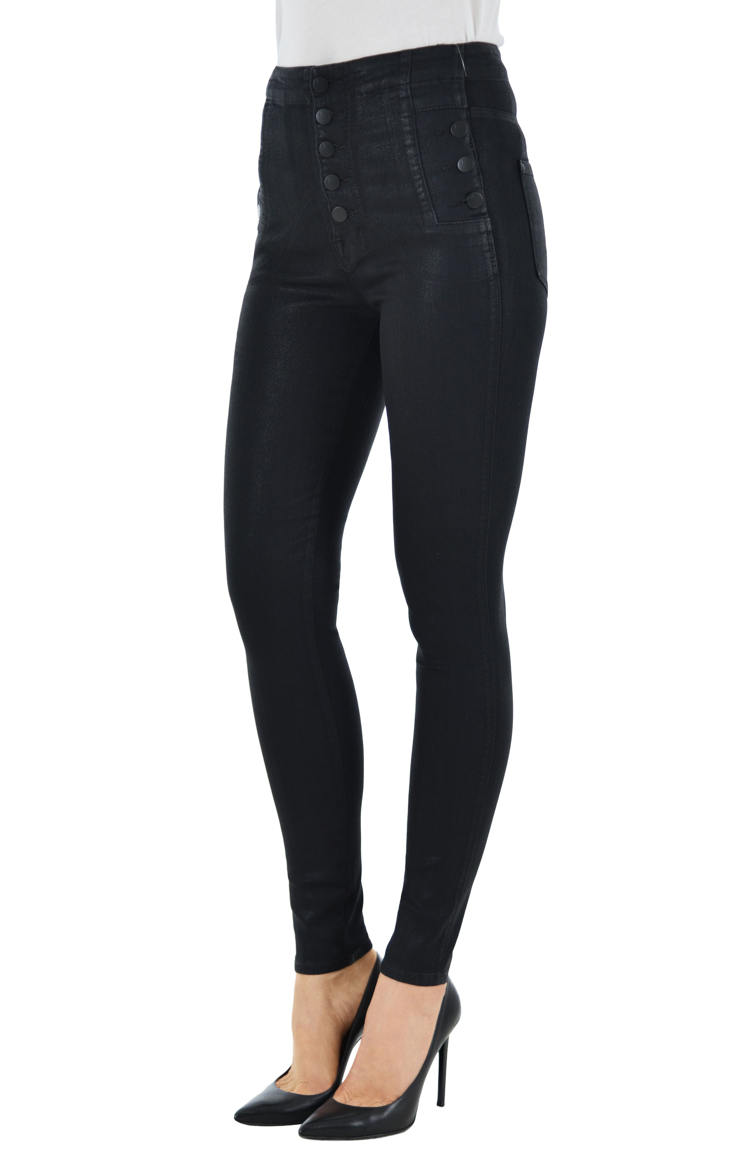 Alternate Image 4  - J Brand Natasha Sky High Skinny Jeans (Fearless)