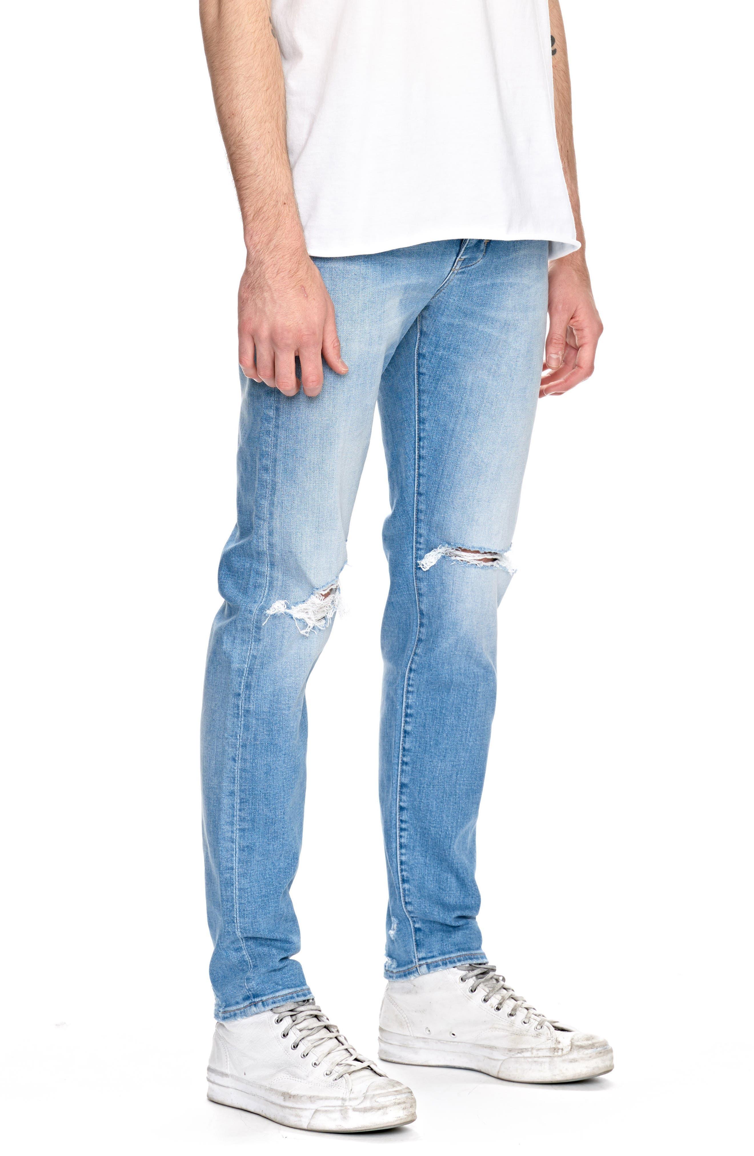 Iggy Skinny Fit Jeans,                             Alternate thumbnail 3, color,                             Noam