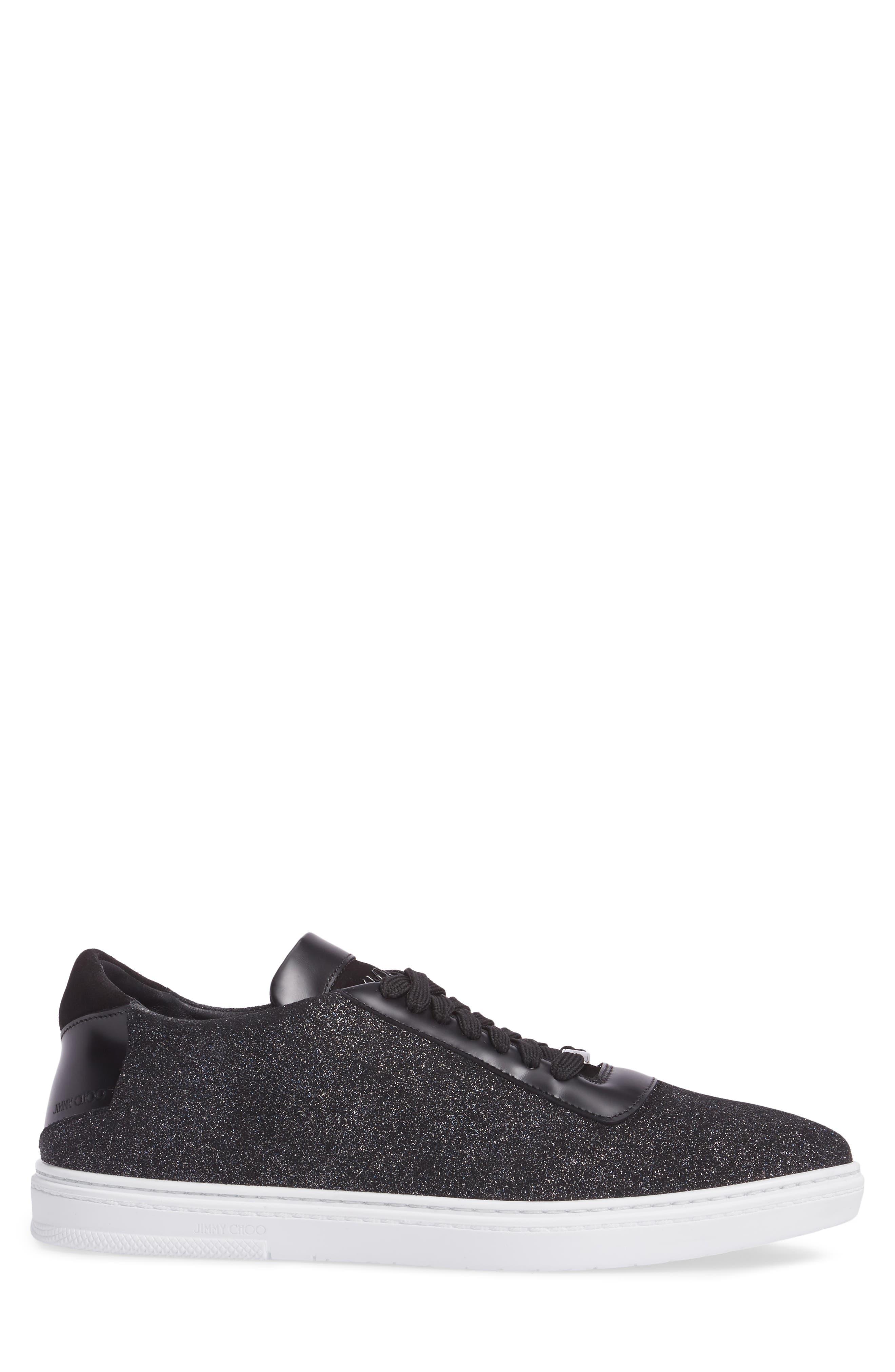 Benn Glitter Low Top Sneaker,                             Alternate thumbnail 3, color,                             Smoky Blue