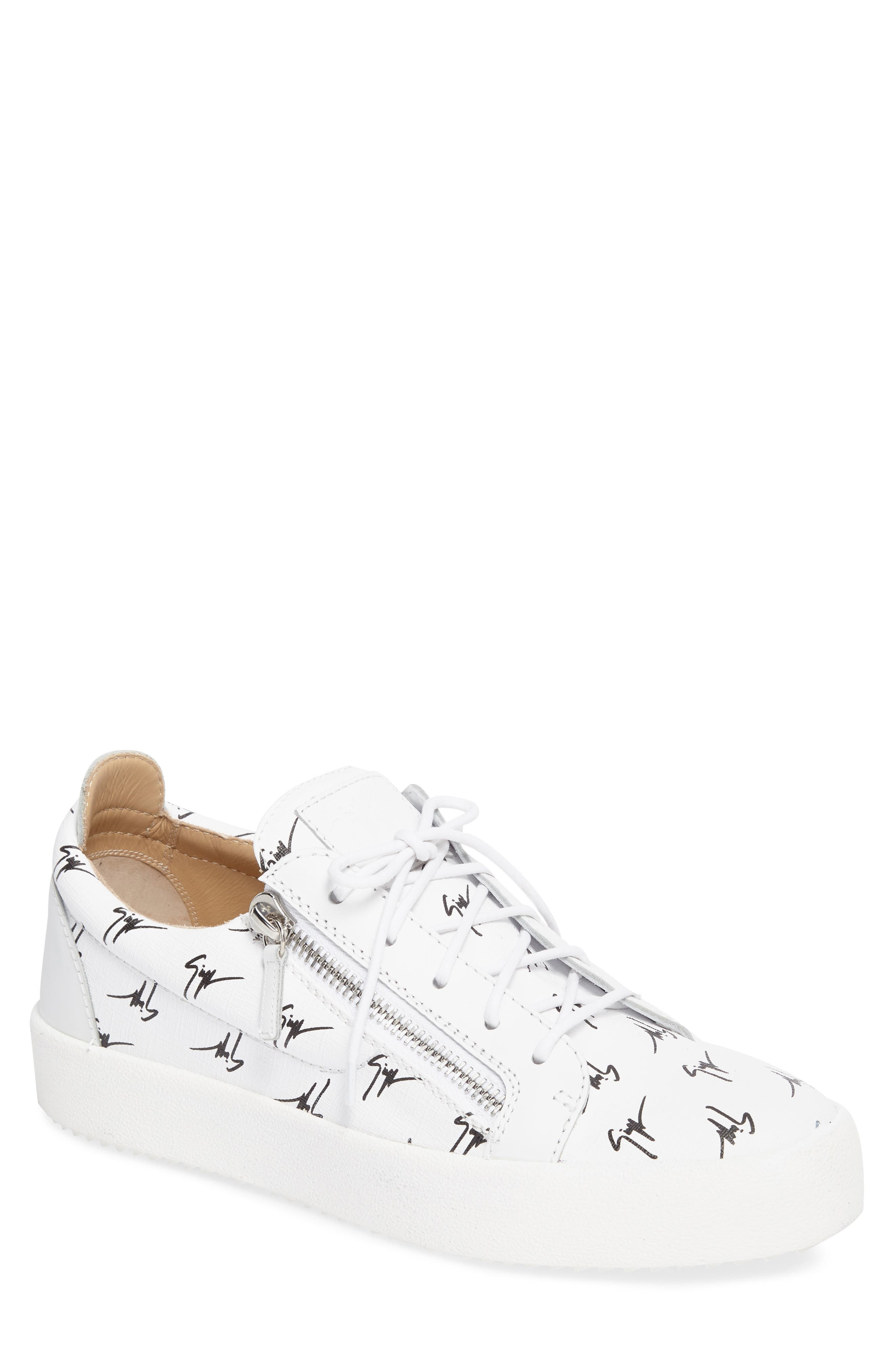 Low-Top Sneaker,                             Main thumbnail 1, color,                             White/Black Gz Logo