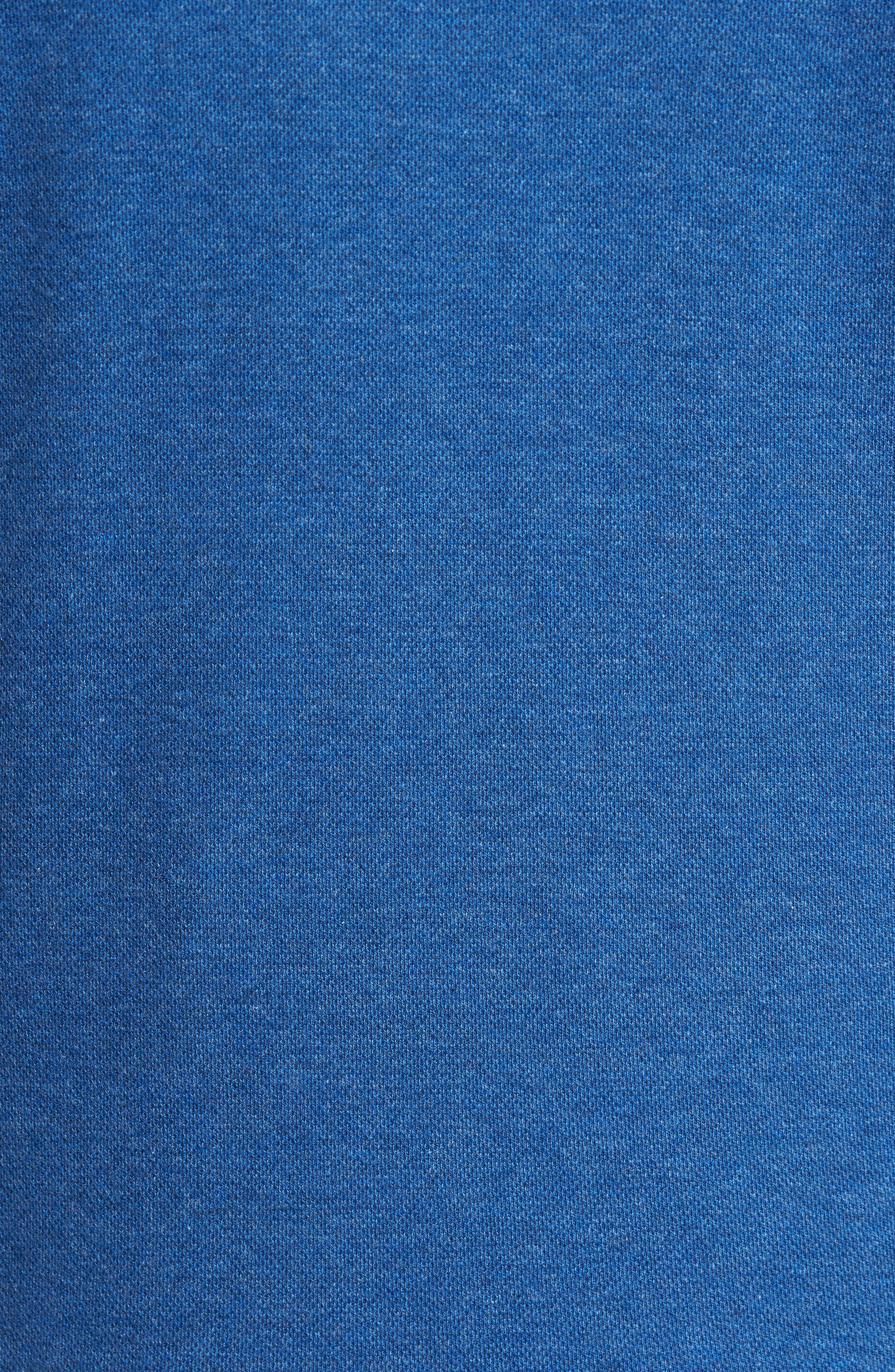 Mélange Quarter Zip Pullover,                             Alternate thumbnail 5, color,                             Blue