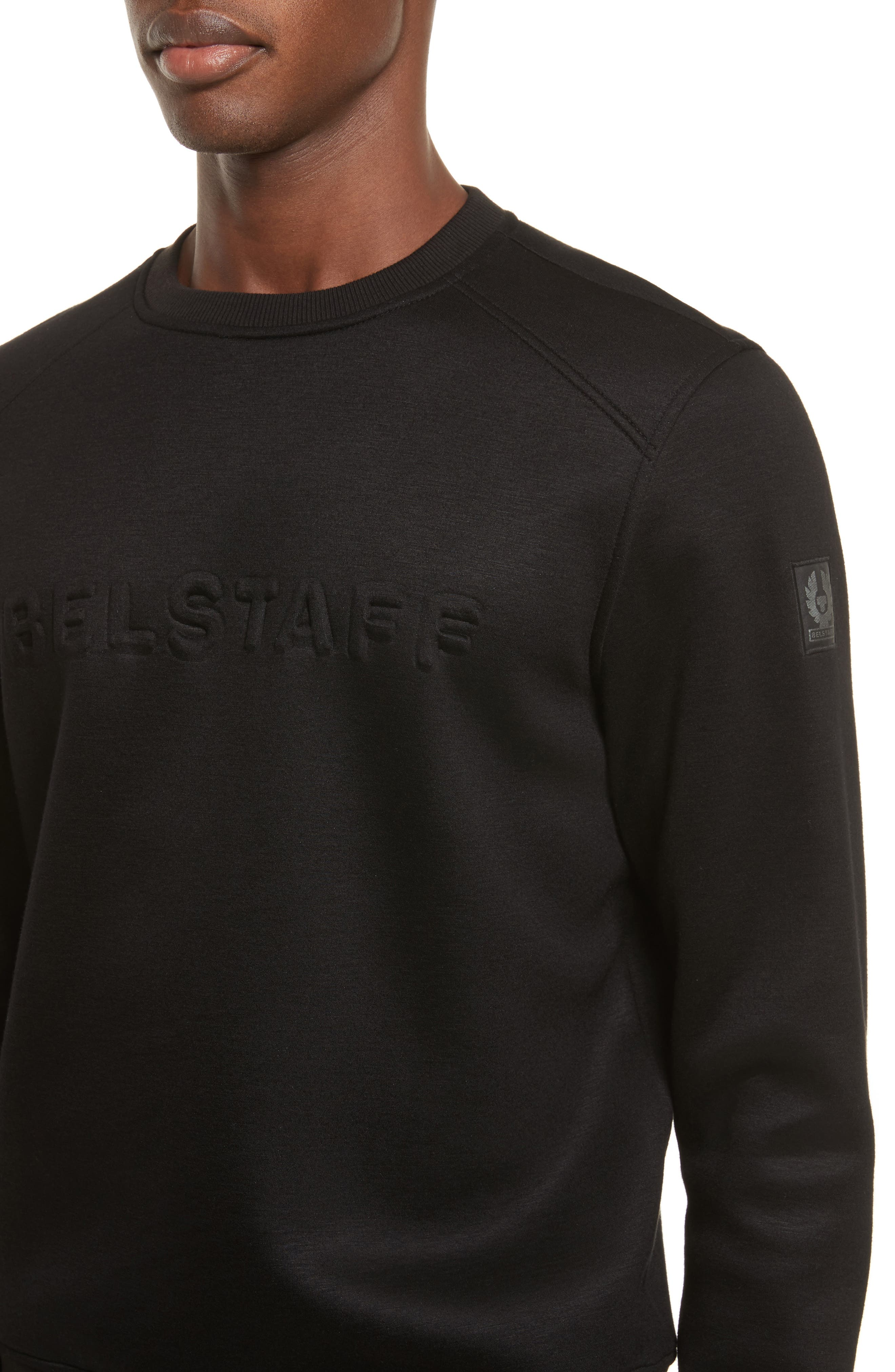 Belsford Crewneck Sweatshirt,                             Alternate thumbnail 4, color,                             Black