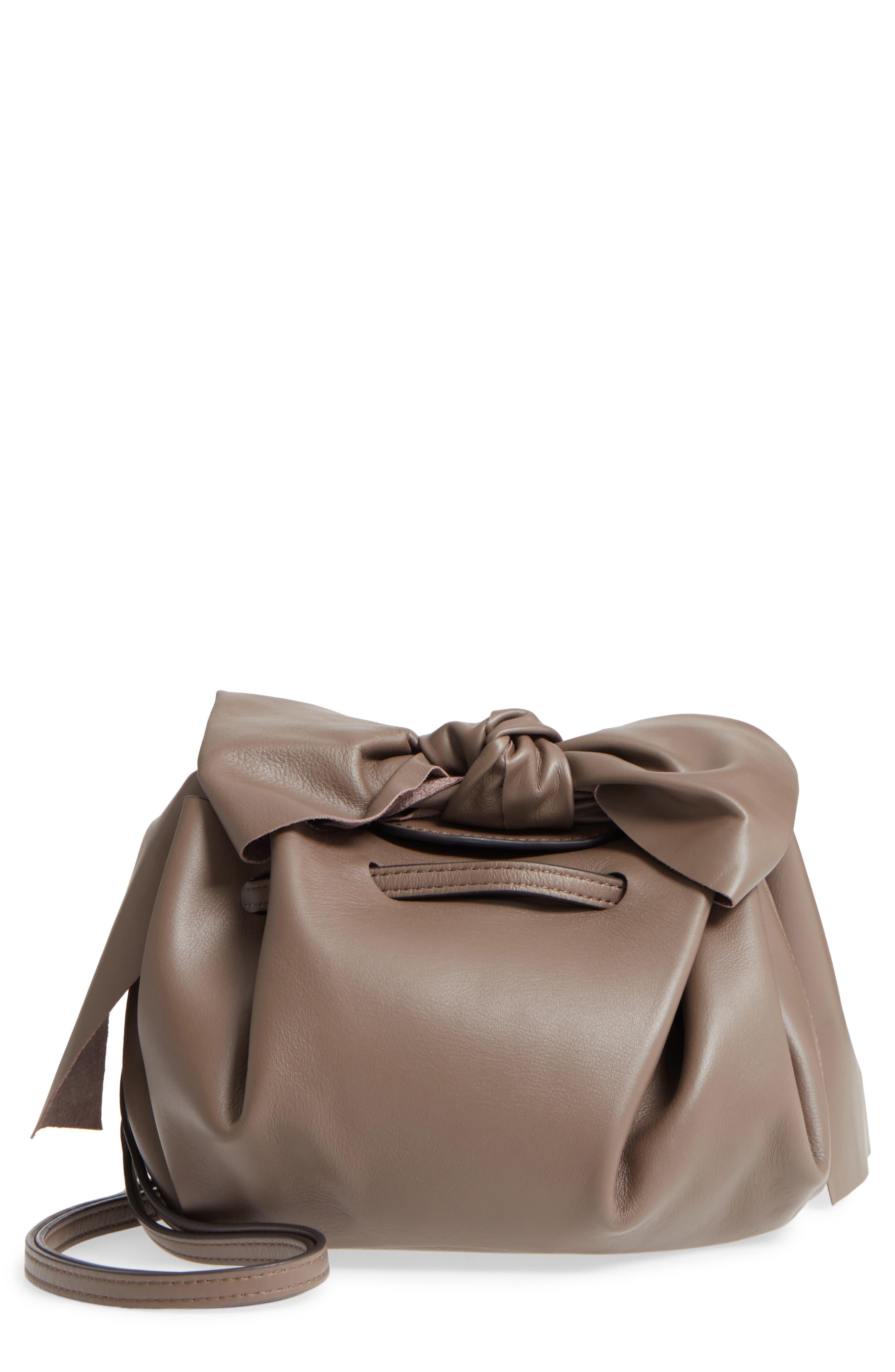Soiree Leather Crossbody Bag,                         Main,                         color, Mockingbird