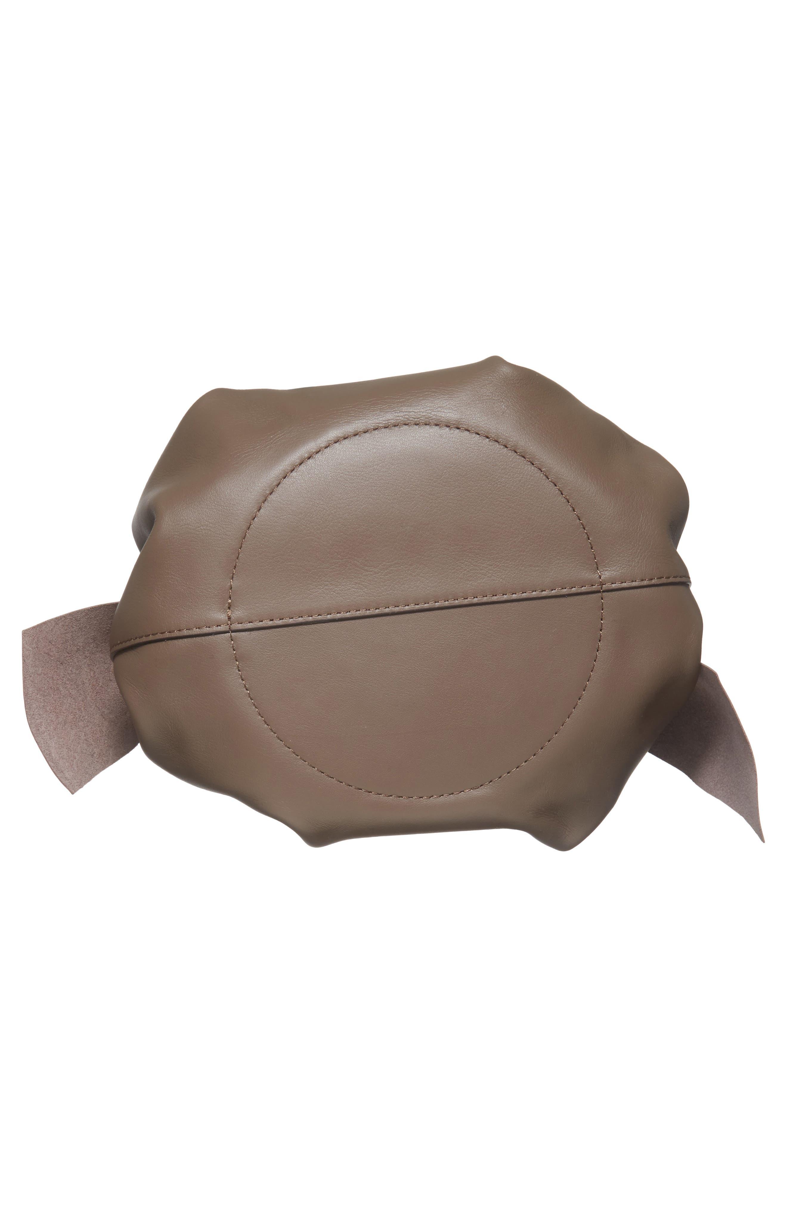 Soiree Leather Crossbody Bag,                             Alternate thumbnail 5, color,                             Mockingbird