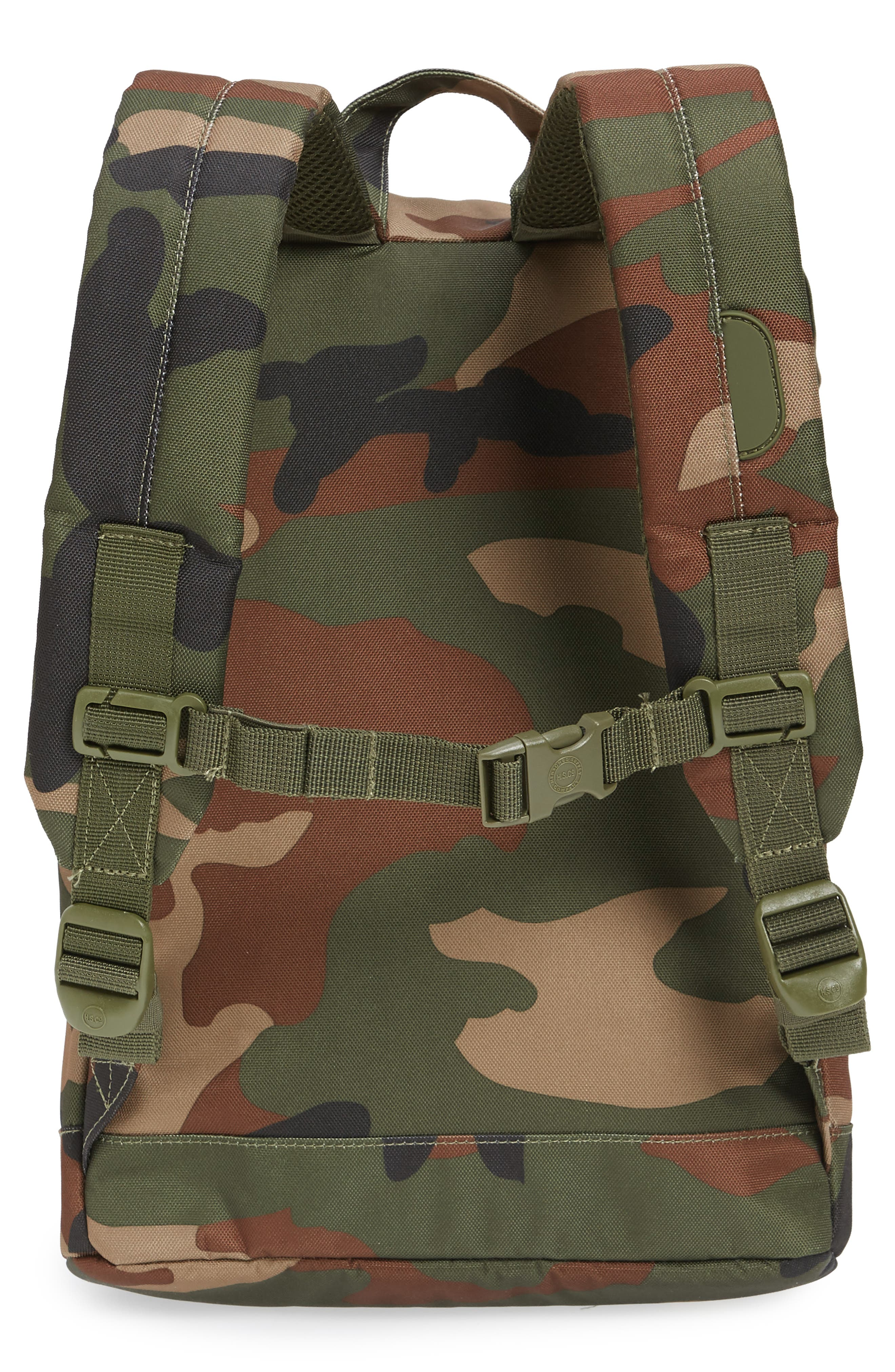 Retreat Camo Backpack,                             Alternate thumbnail 2, color,                             Woodland Camo/ Army Rubber