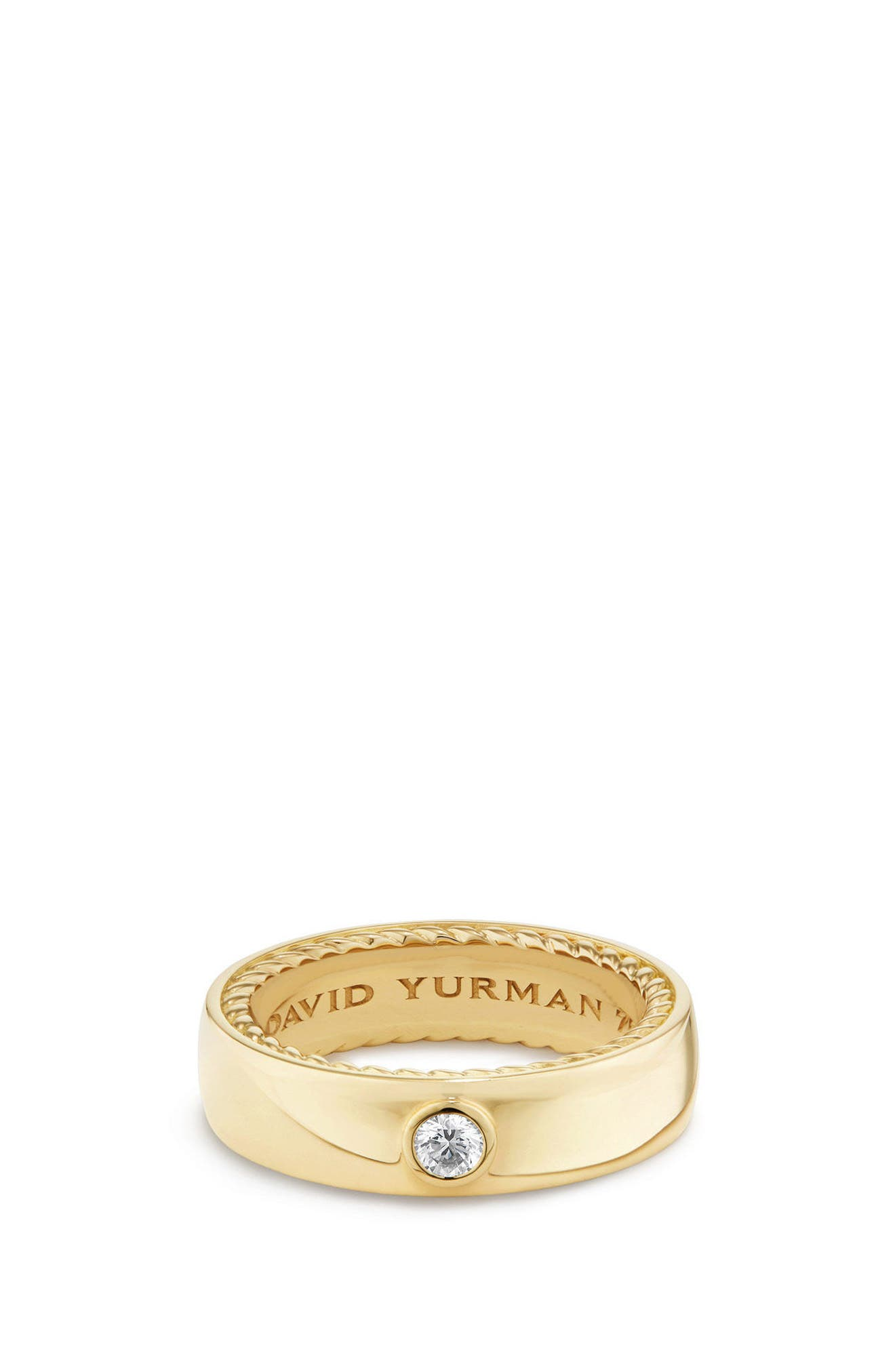 Streamline Band Ring with Diamond, 6mm,                             Main thumbnail 1, color,                             Gold