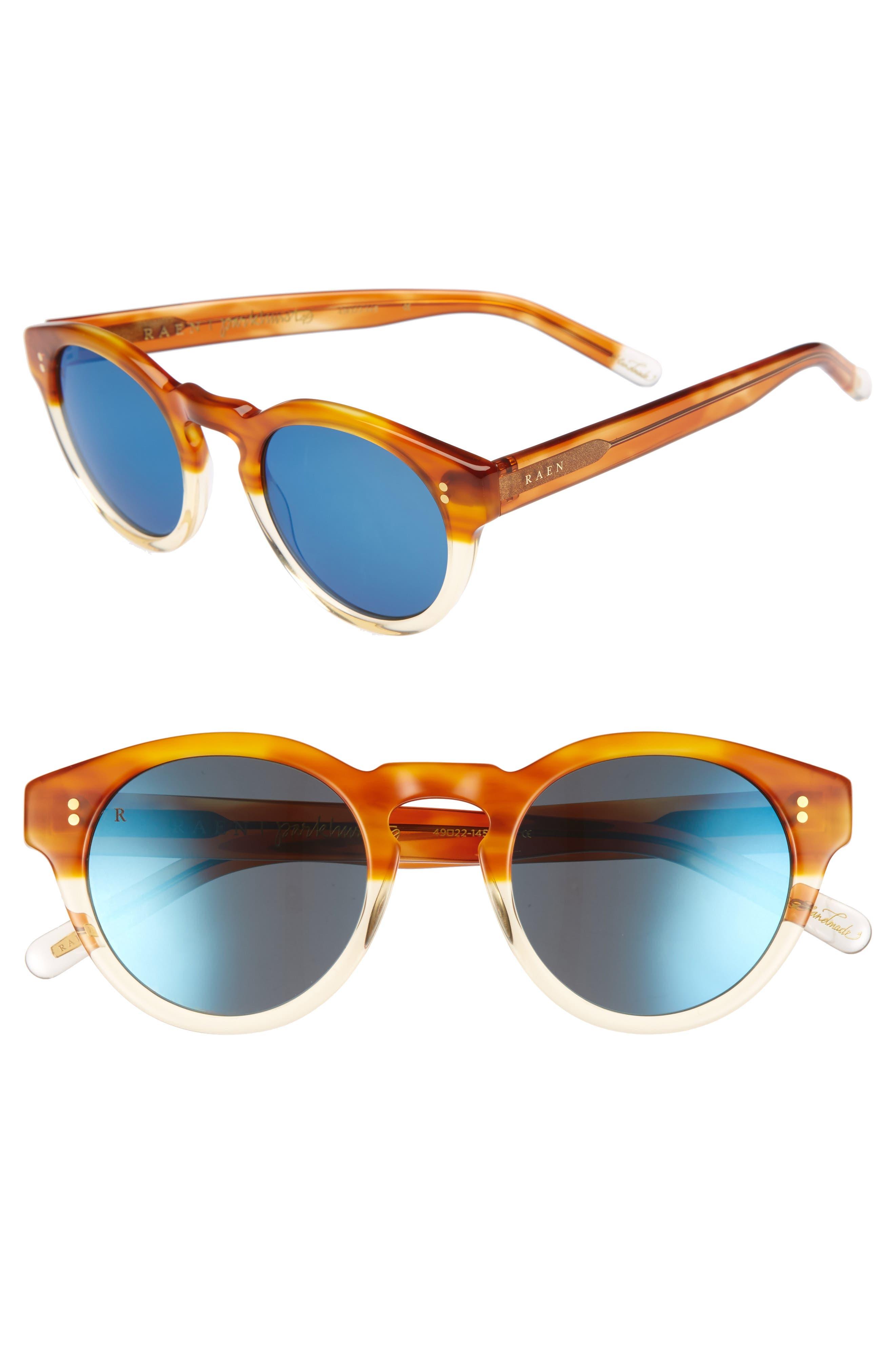 Parkhurst 49mm Sunglasses,                         Main,                         color, Honey Havana/ Blue Mirror