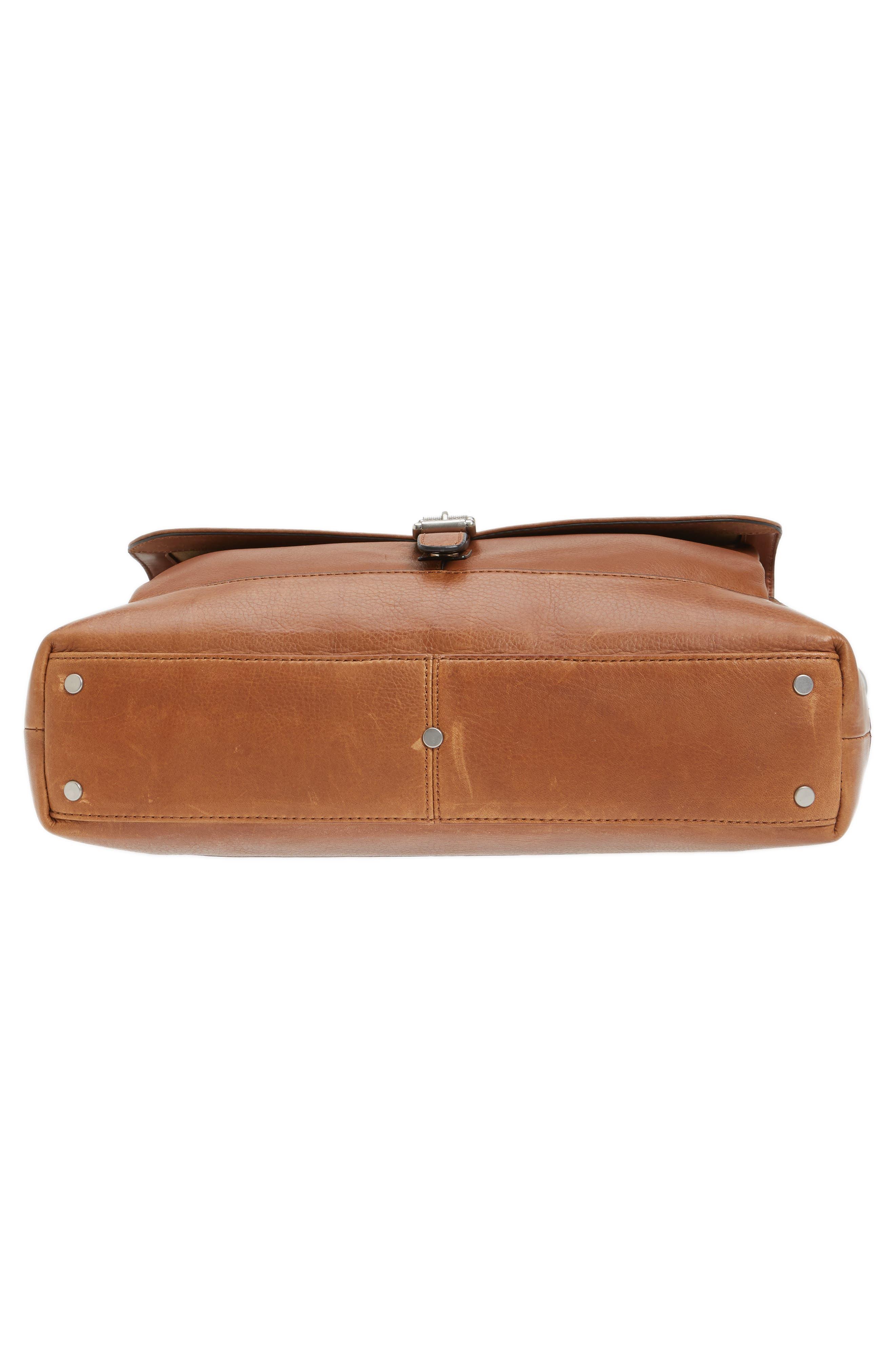 Oliver Leather Briefcase,                             Alternate thumbnail 6, color,                             Cognac