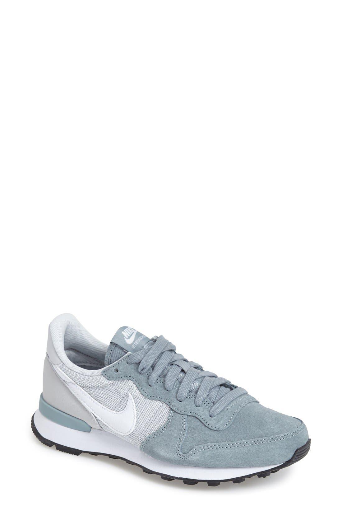 'Internationalist' Sneaker,                             Main thumbnail 1, color,                             Grey/ Platinum/ Black