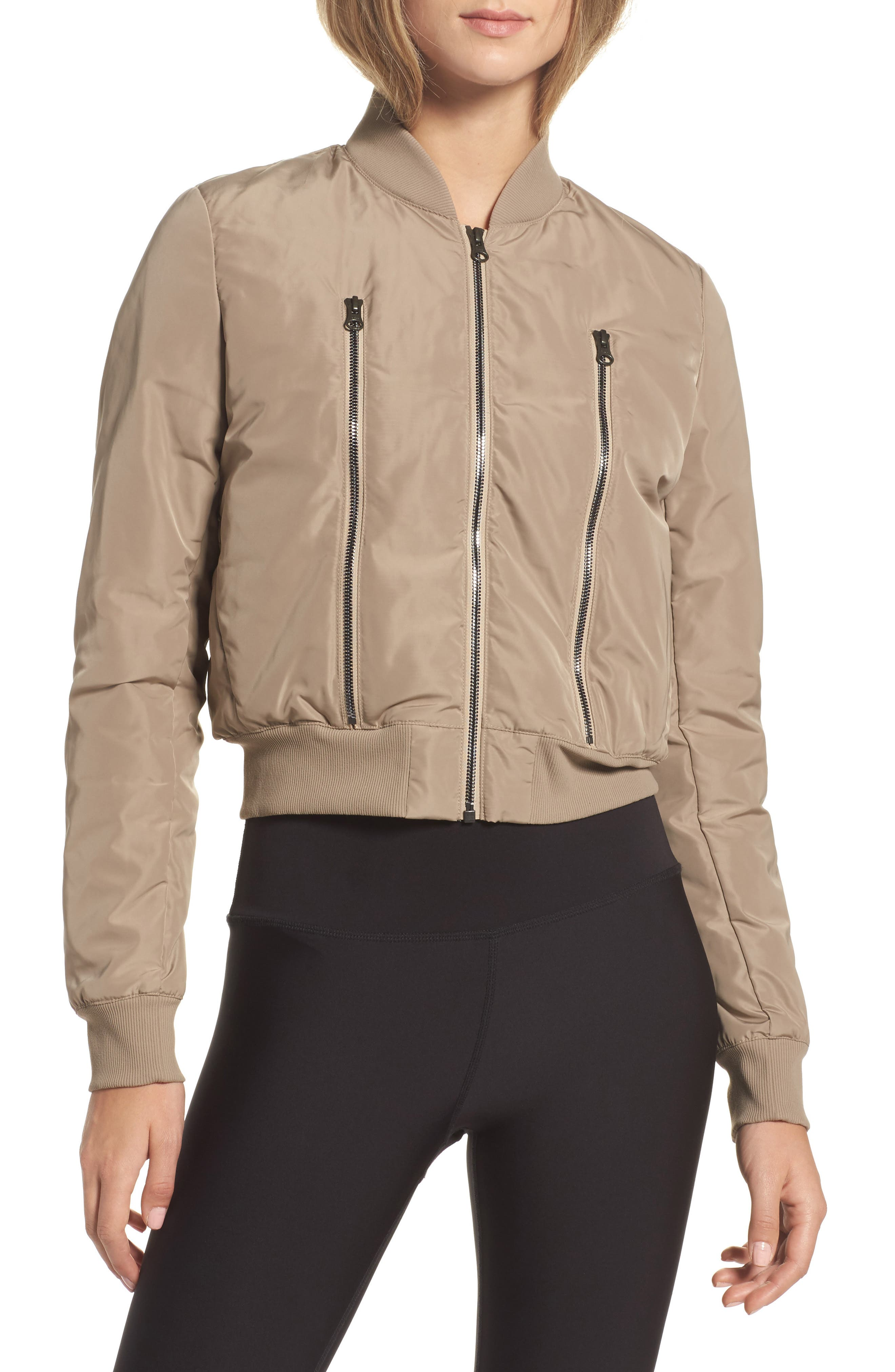Off Duty Bomber Jacket,                         Main,                         color, Gravel