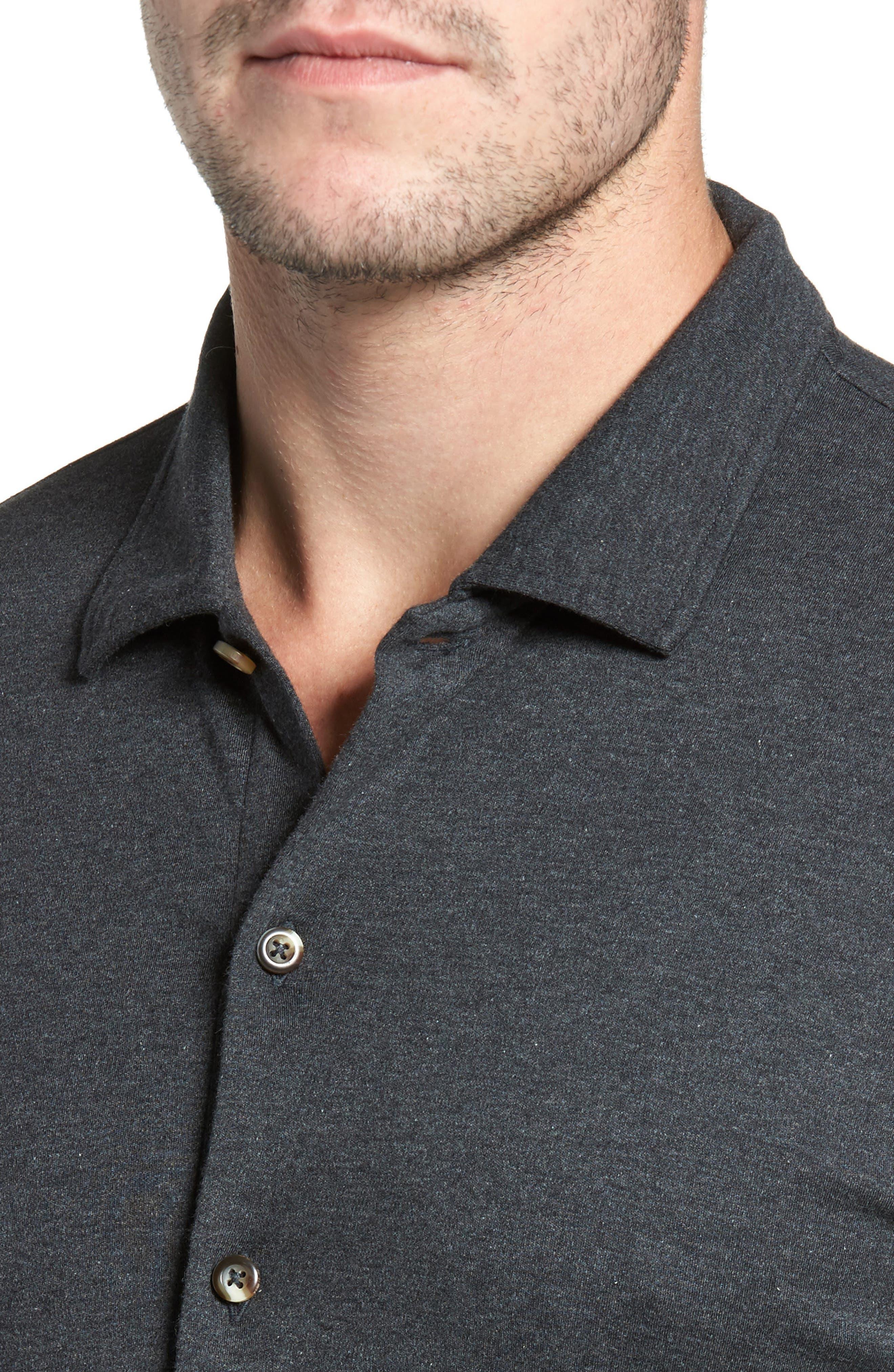 Alternate Image 4  - David Donahue Interlock Knit Sport Shirt