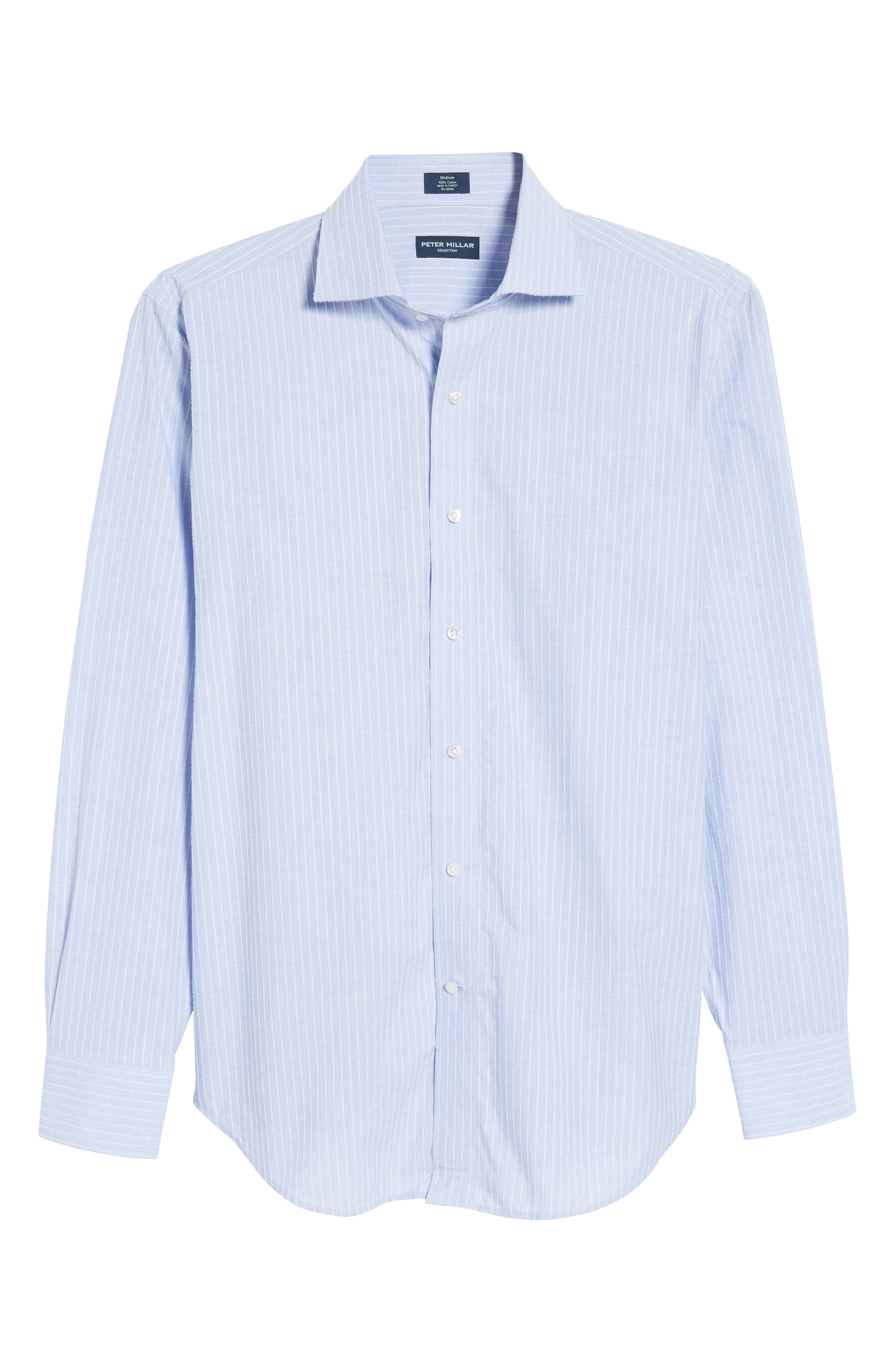 Cejar Stripe Sport Shirt,                             Alternate thumbnail 6, color,                             Blue Ceillo