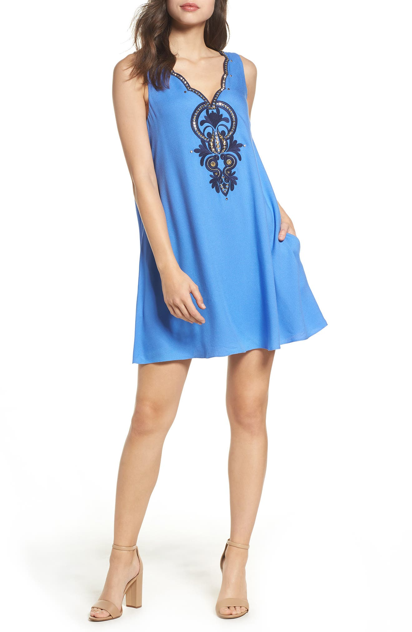 Lilly Pulitzer® Owen Embroidered Trapeze Dress