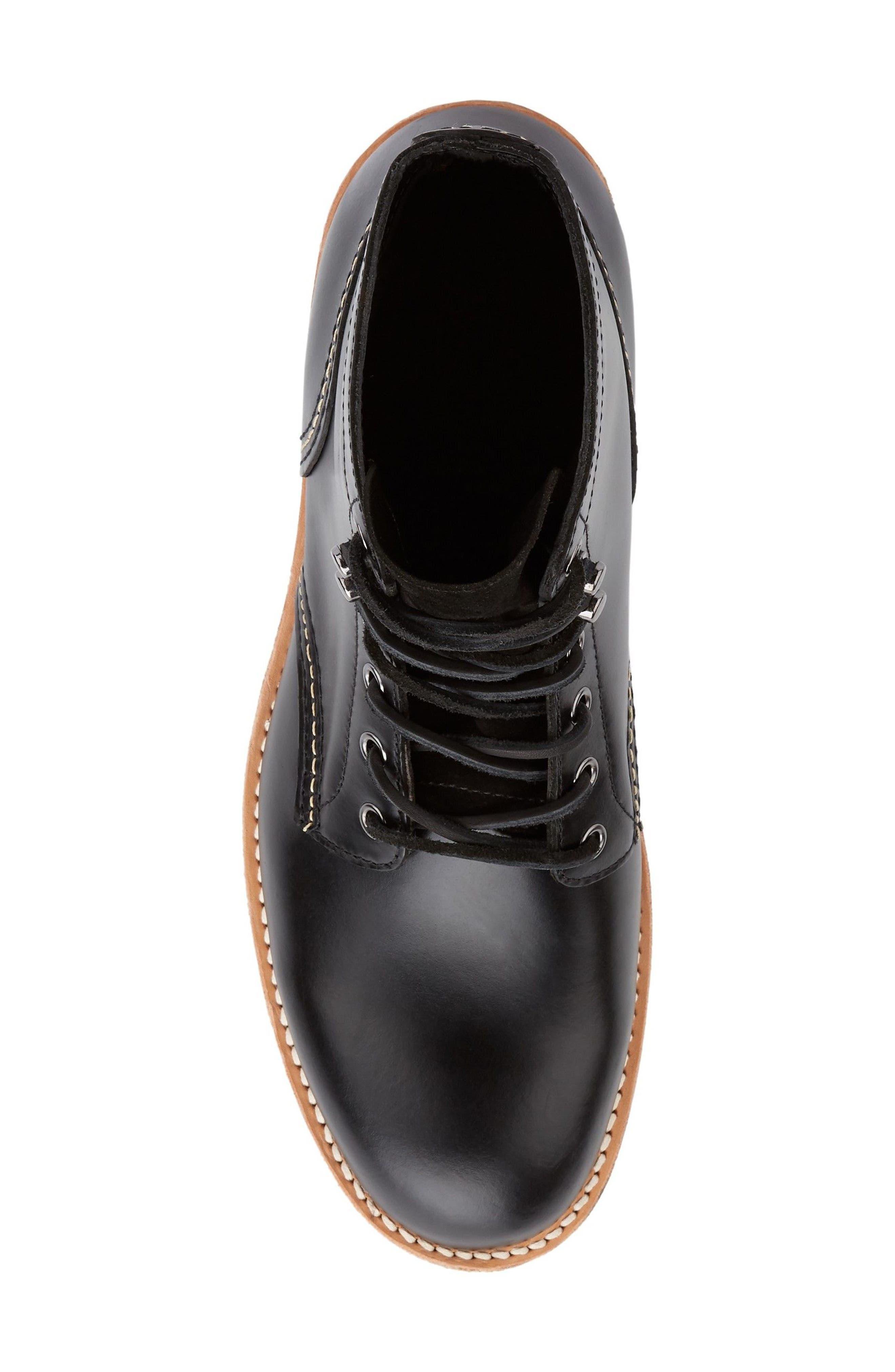 Reid Plain Toe Boot,                             Alternate thumbnail 5, color,                             Black