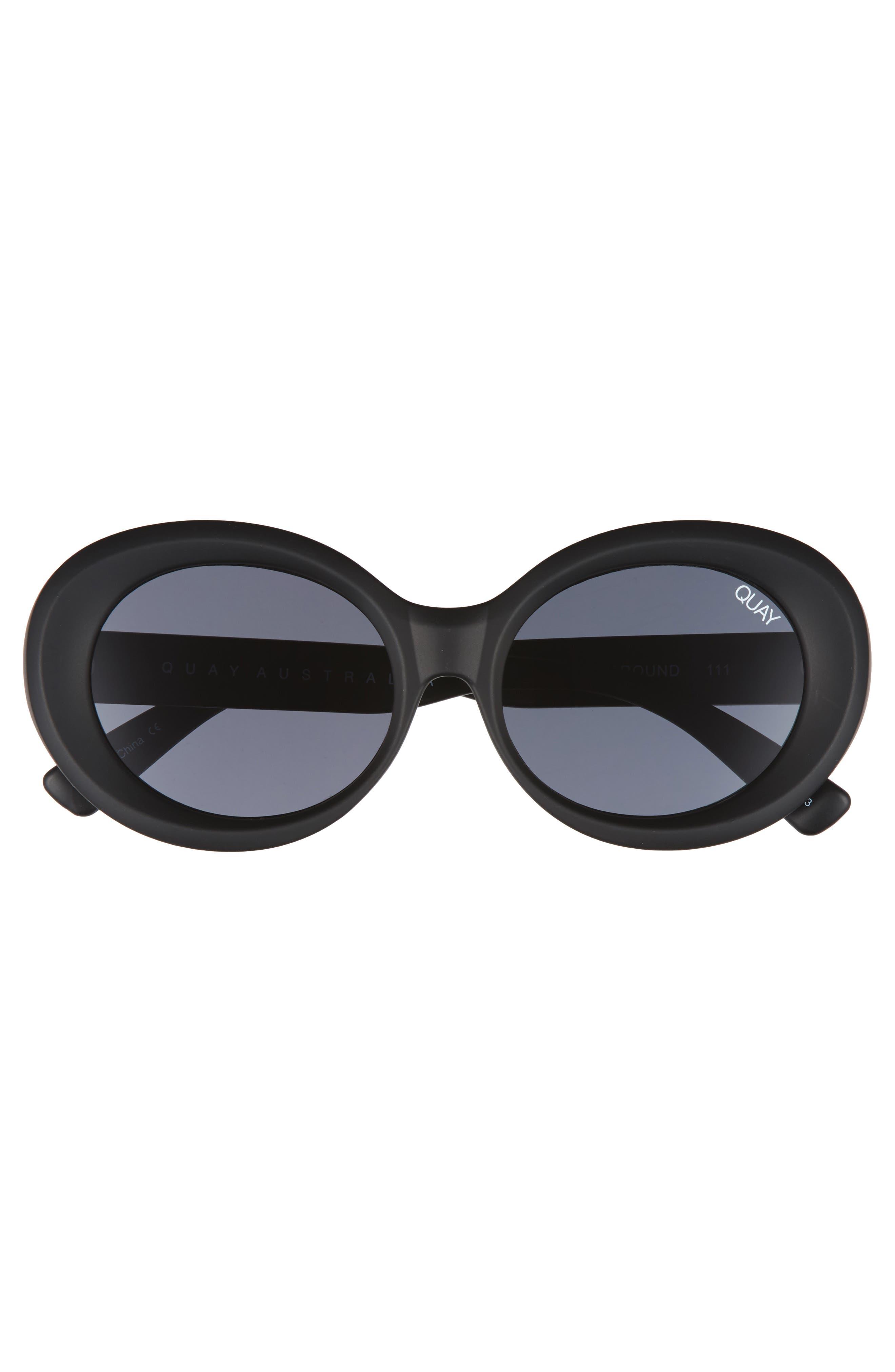 Alternate Image 3  - Quay Australia Mess Around 52mm Oval Sunglasses