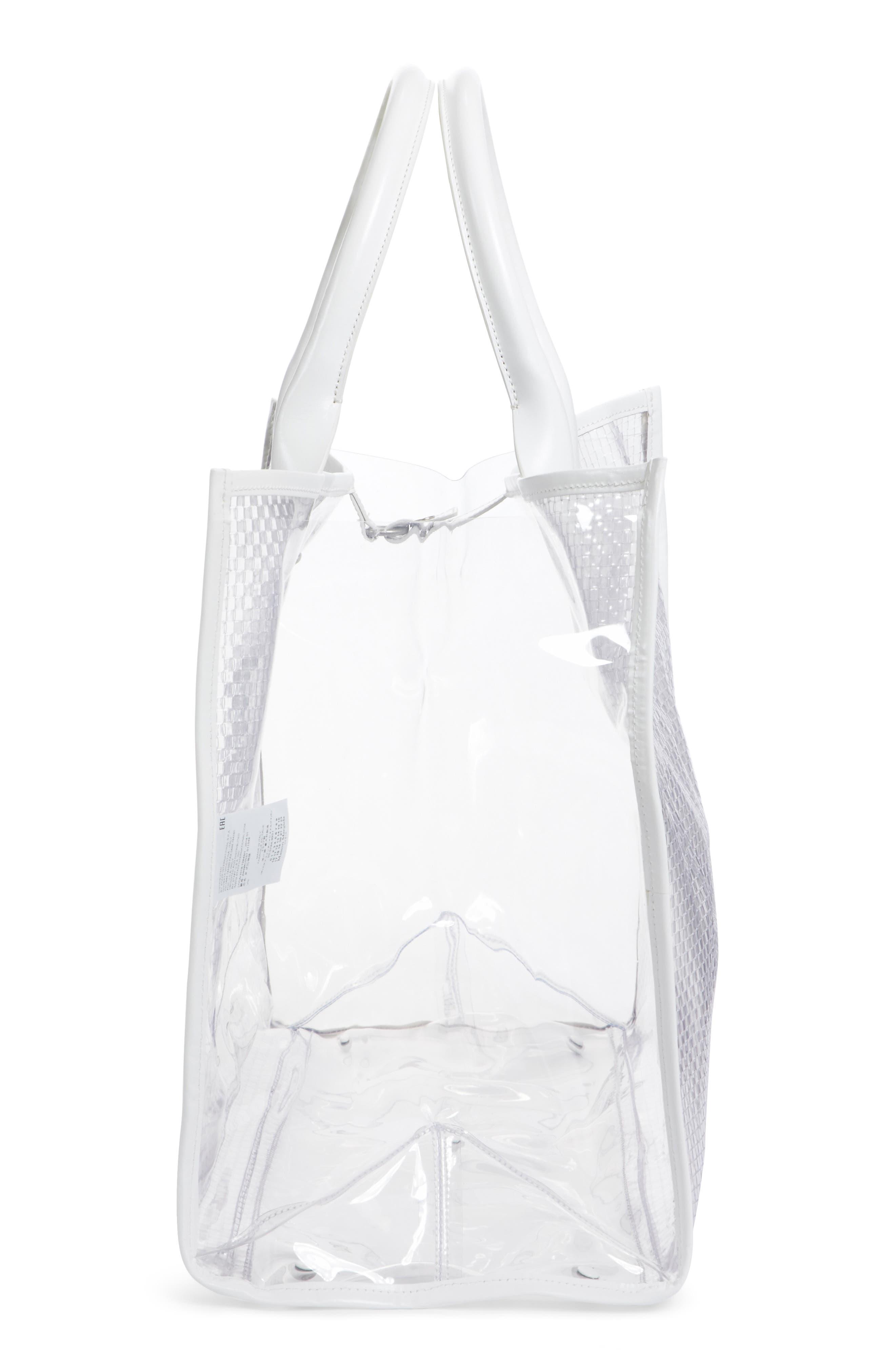 Alternate Image 5  - Maison Margiela Textured Transparent Tote