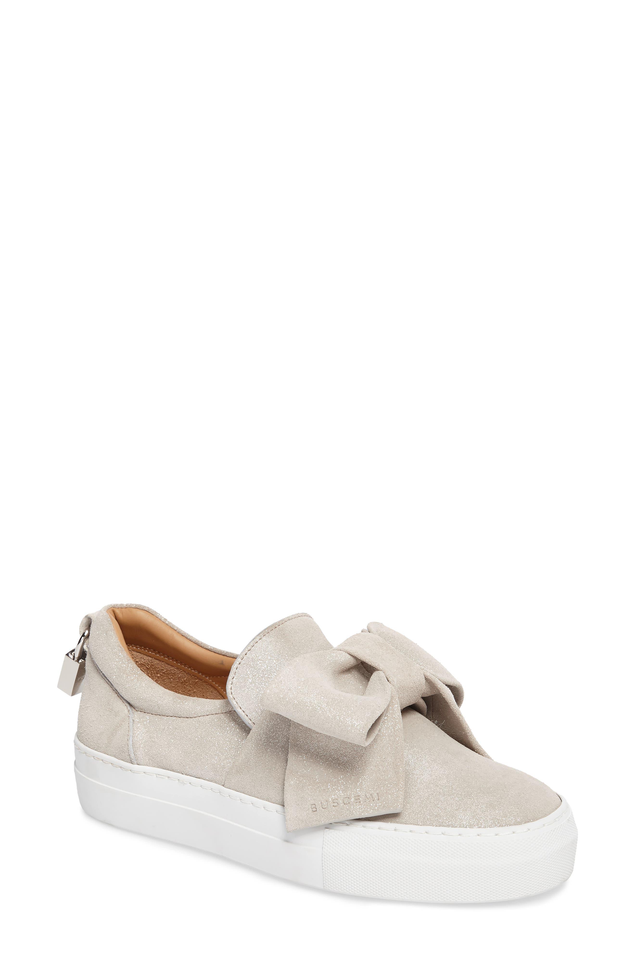 Bow Slip-On Sneaker,                         Main,                         color, Gleam Grey