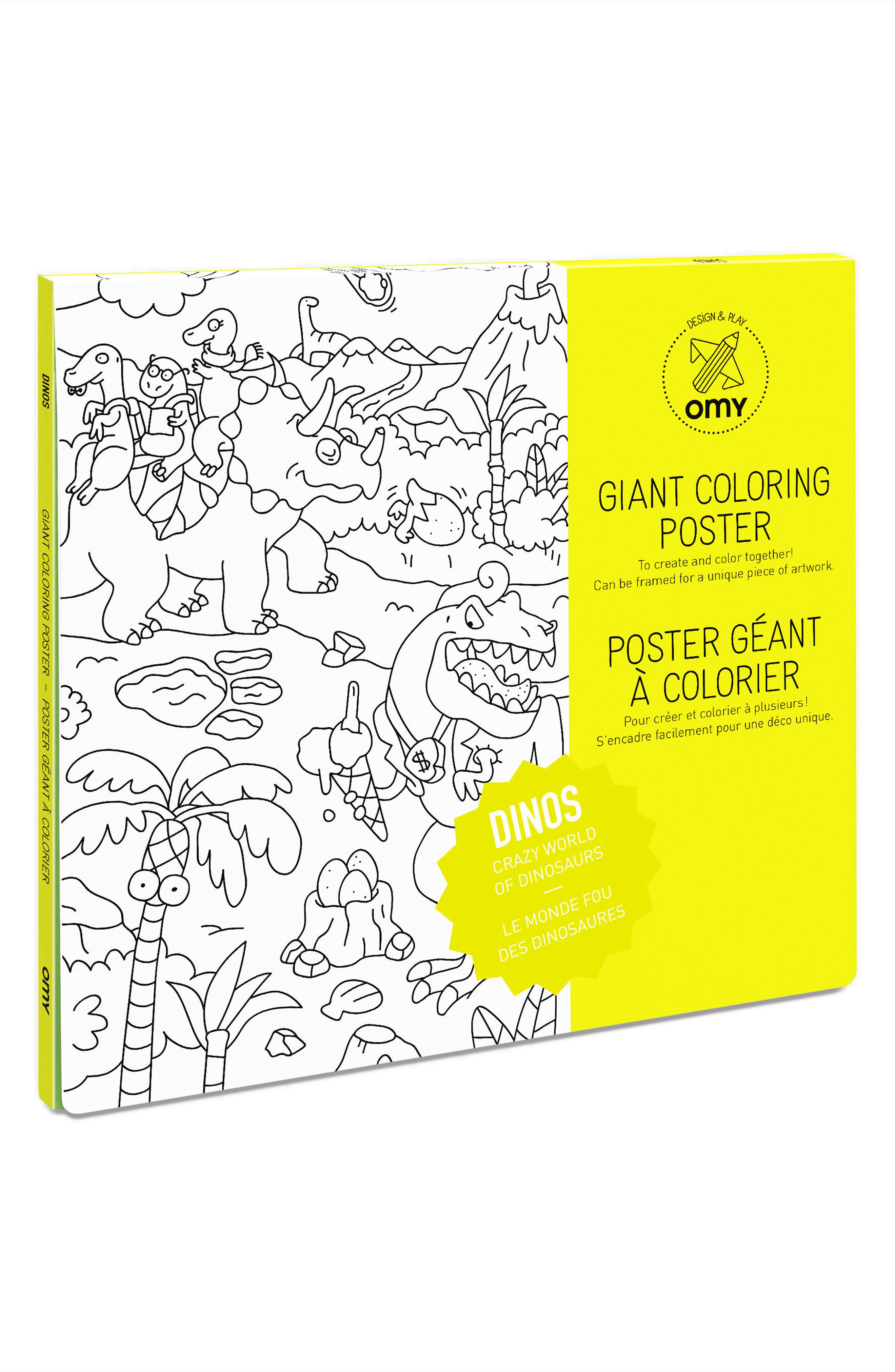 Main Image - OMY Dinosaurs Giant Coloring Poster