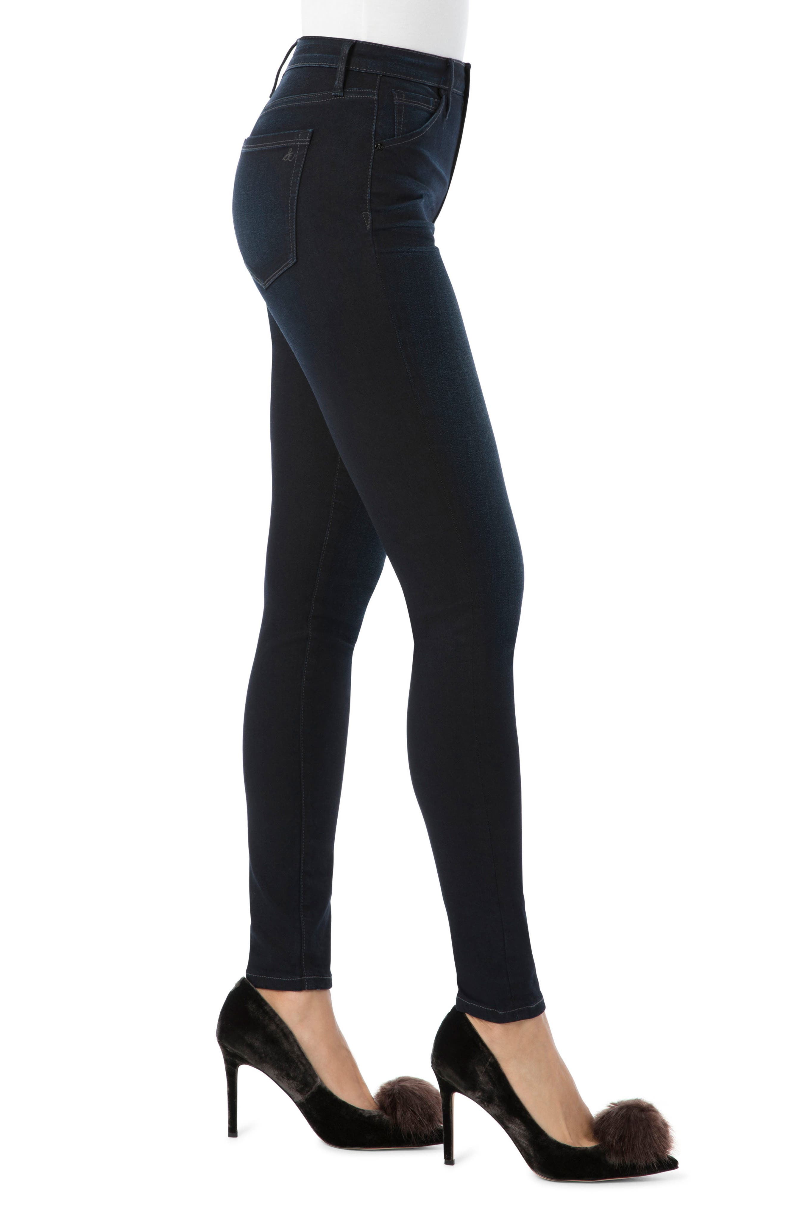Stiletto High Rise Skinny Jeans,                             Alternate thumbnail 3, color,                             Bronwyn