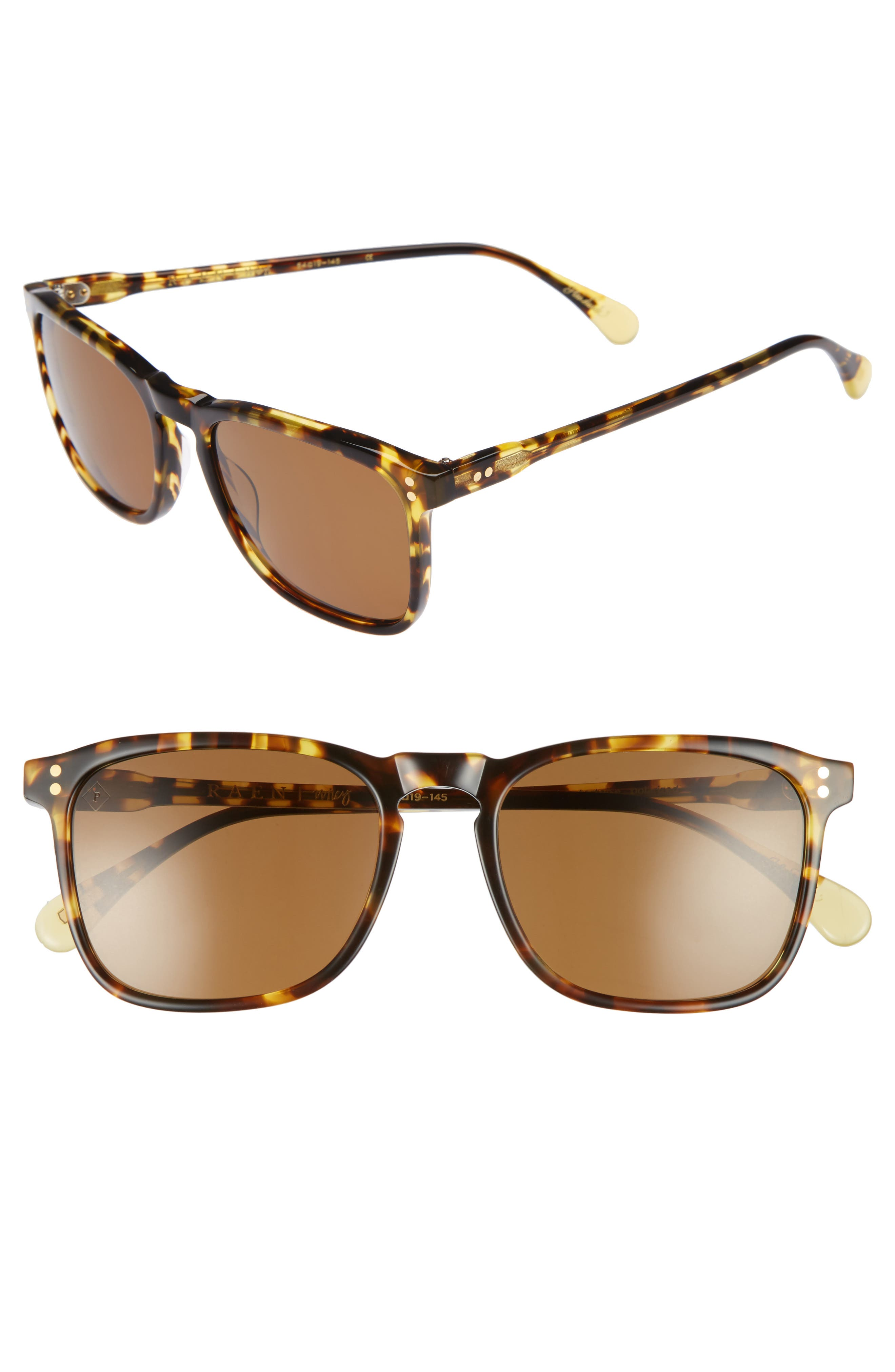 Wiley 54mm Polarized Sunglasses,                             Main thumbnail 1, color,                             Tokyo Tortoise/ Brown