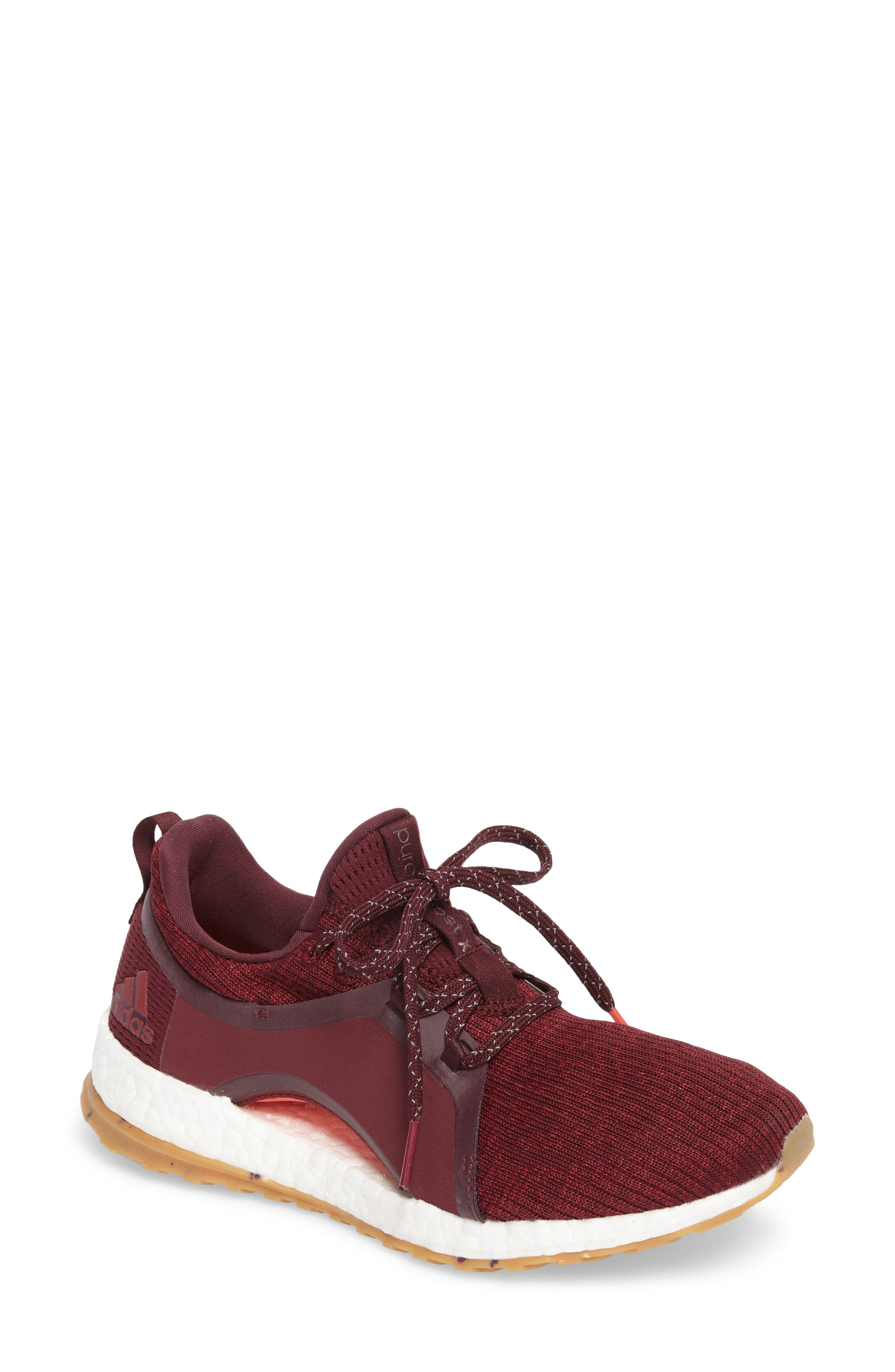 PureBoost X ATR Running Shoe,                         Main,                         color, Red Night/ Ruby/ Easy Coral