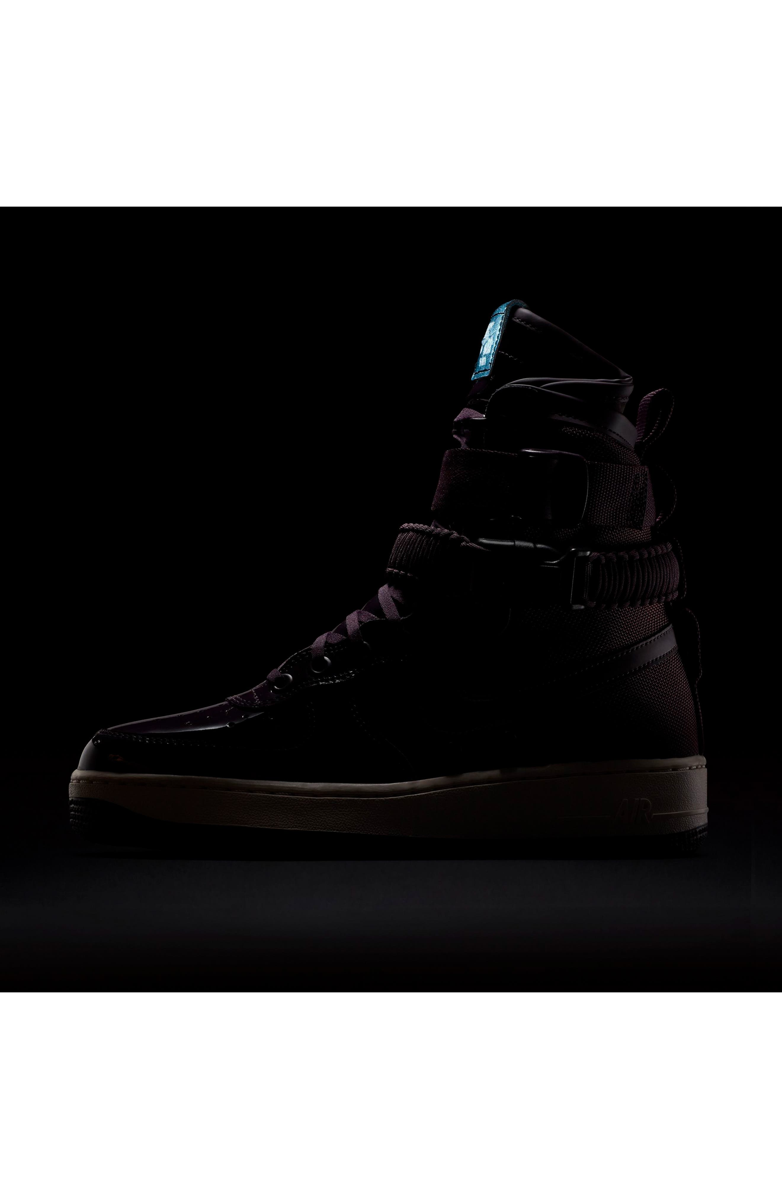 SF Air Force 1 High Top Sneaker,                             Alternate thumbnail 7, color,                             Port Wine/ Port Wine