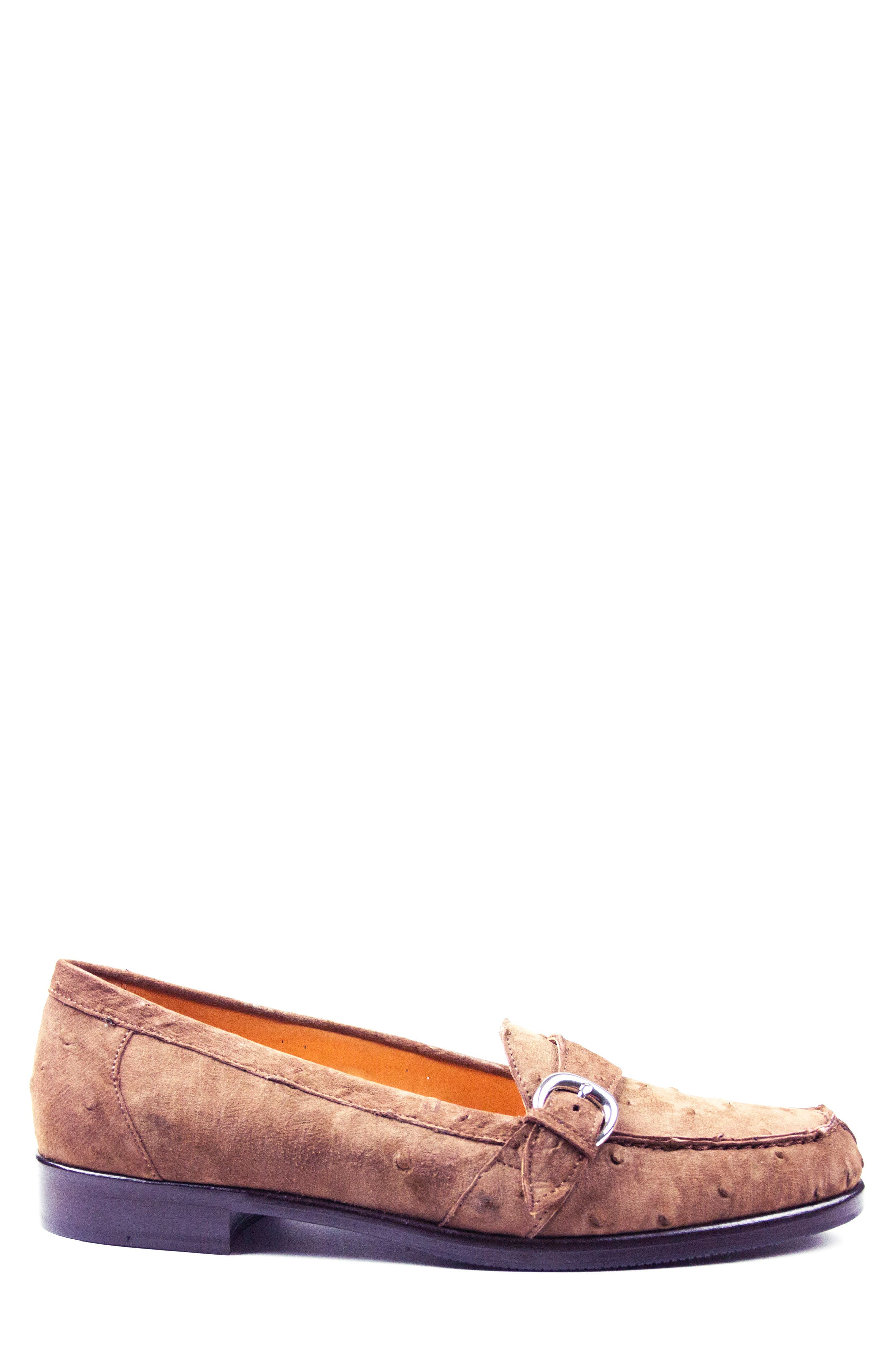Orlando Teju Ostrich Loafer,                             Alternate thumbnail 3, color,                             Brown