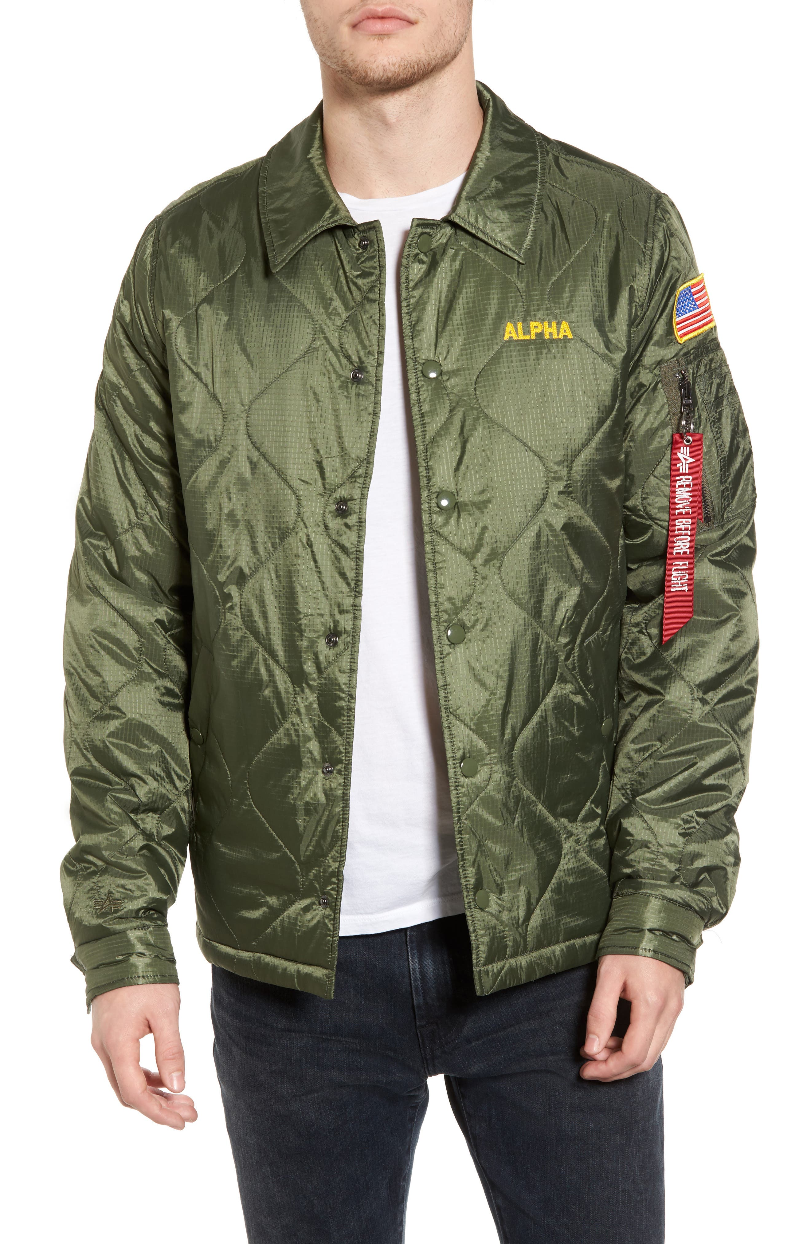 Quilted Storm Cruiser Jacket,                             Main thumbnail 1, color,                             Sage